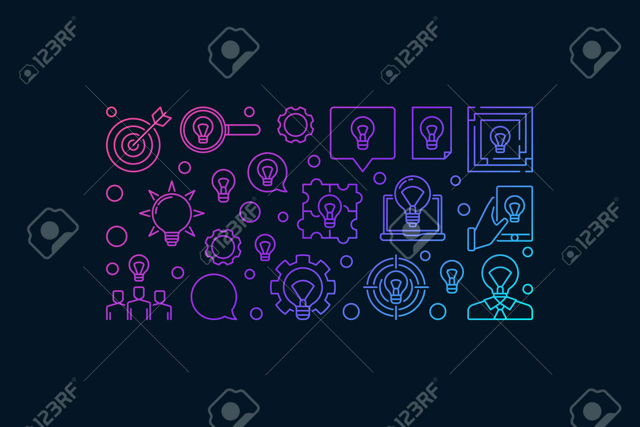 Solution and idea modern banner design - vector colorful creative