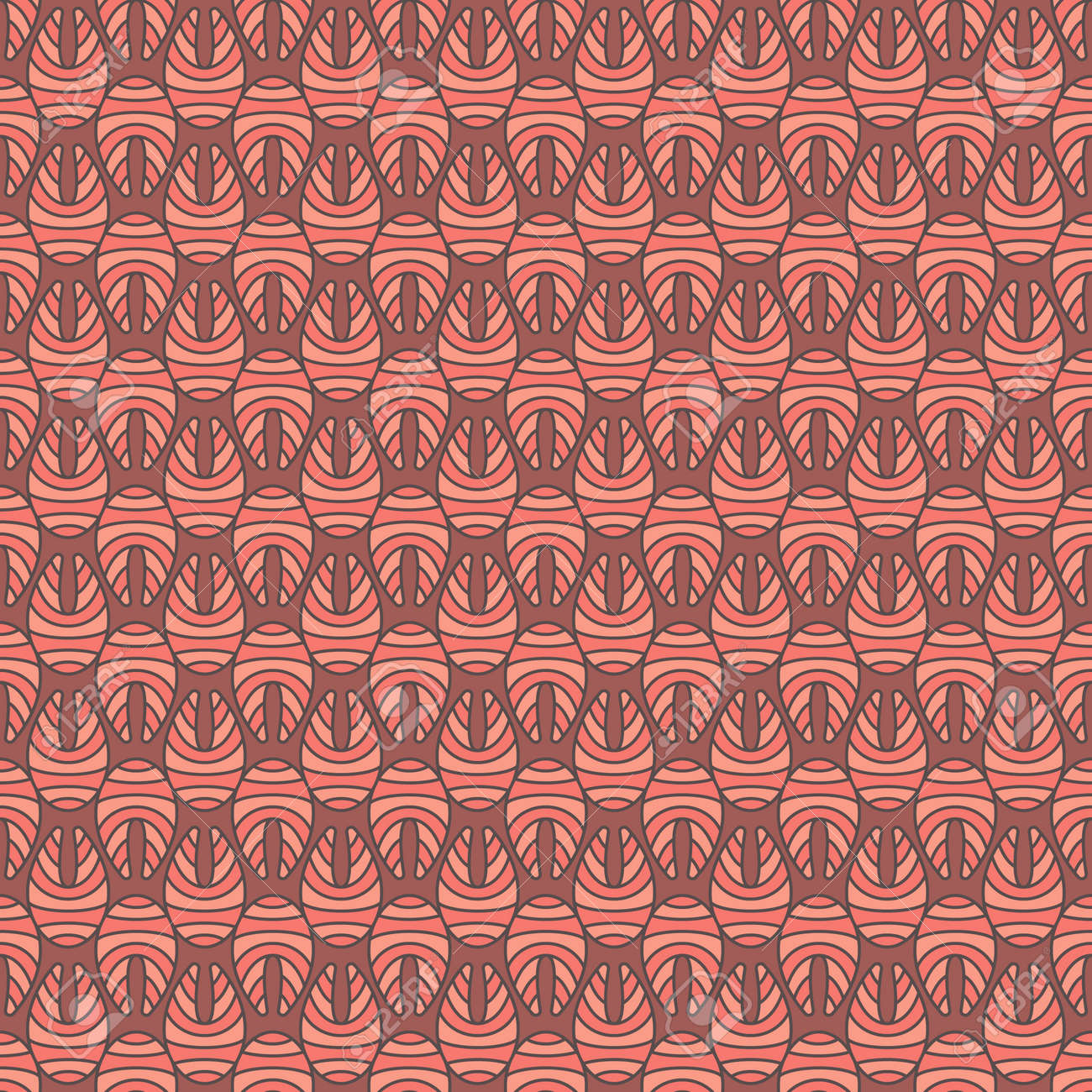 Creative Salmon Fish Steak Vector Colored Seamless Pattern Royalty ...