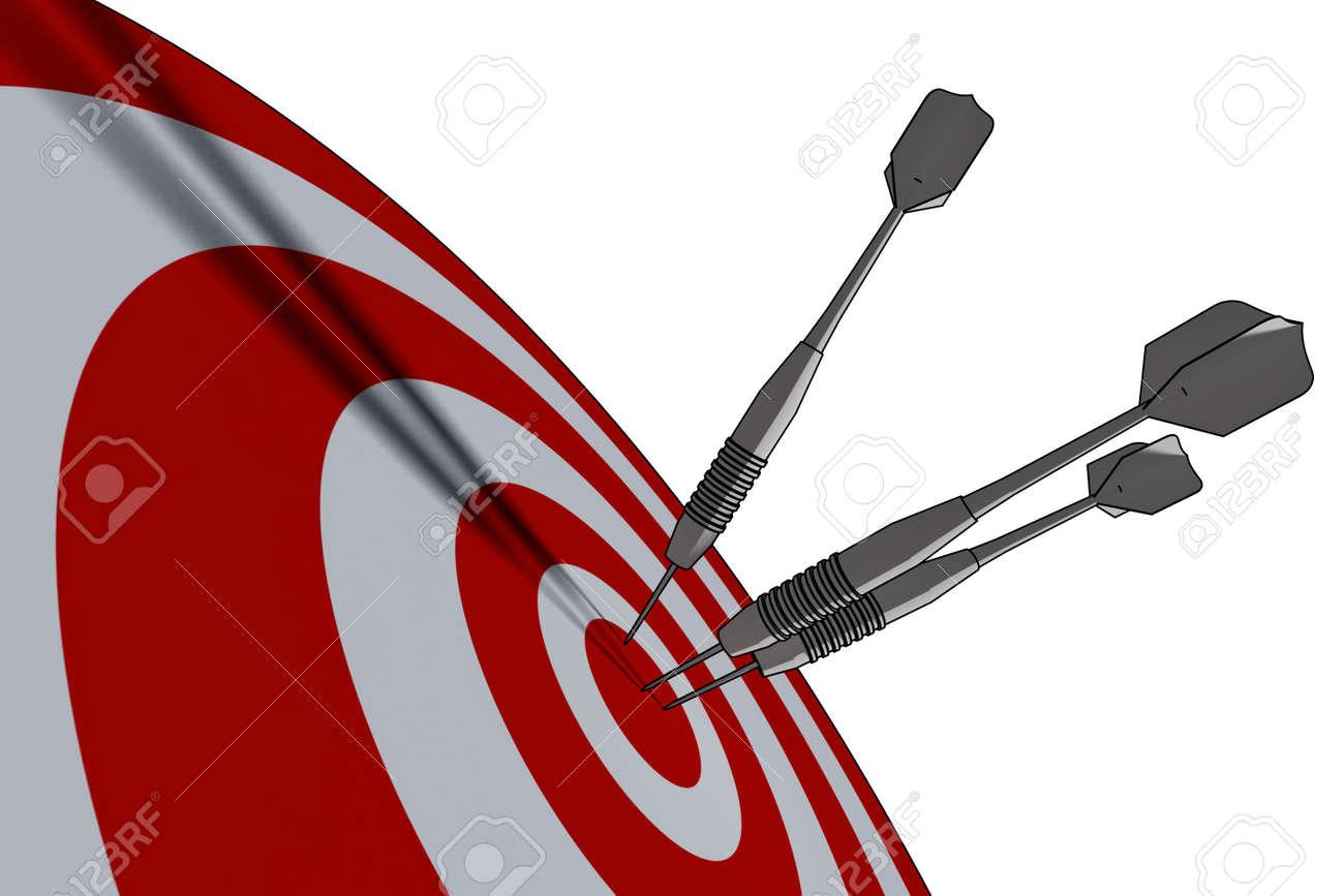 bullseye - business concept - 3d illustration Stock Photo - 3010780