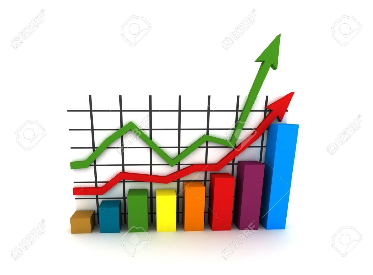 statistics - 3d isolated multicolor diagram Stock Photo - 3588456