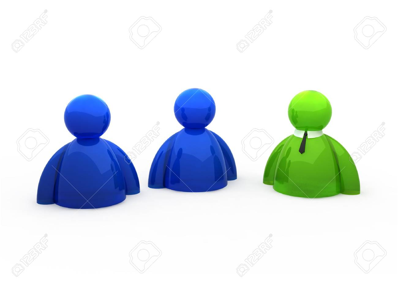 3d people symbol - isolated illustration Stock Illustration - 3649507