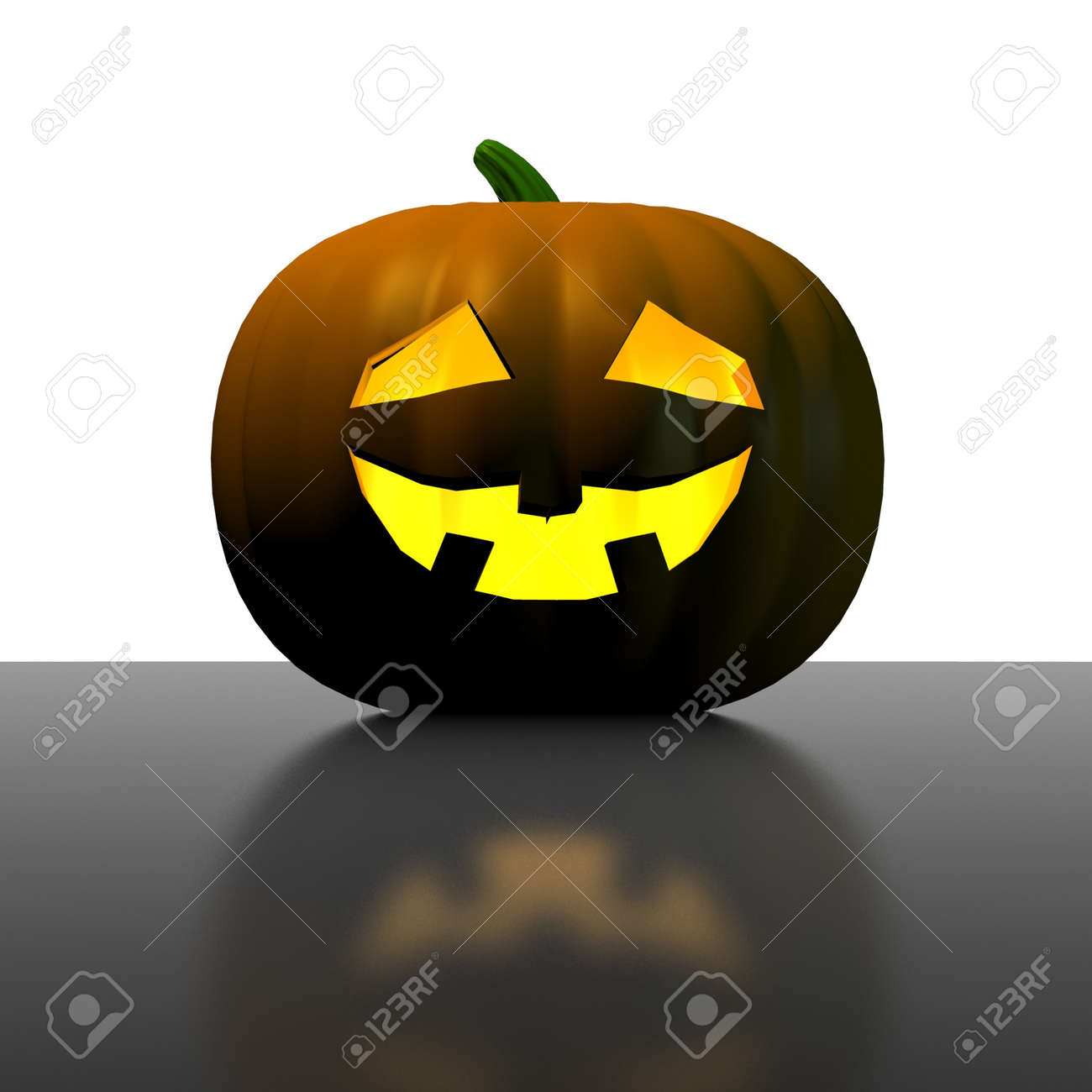 old halloween pumpkin - 3d render Stock Photo - 4285547