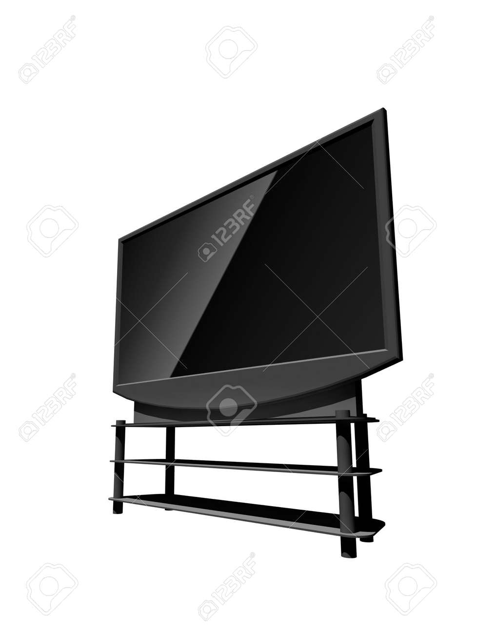 high definition television - isolated 3d illustration Stock Photo - 4534245