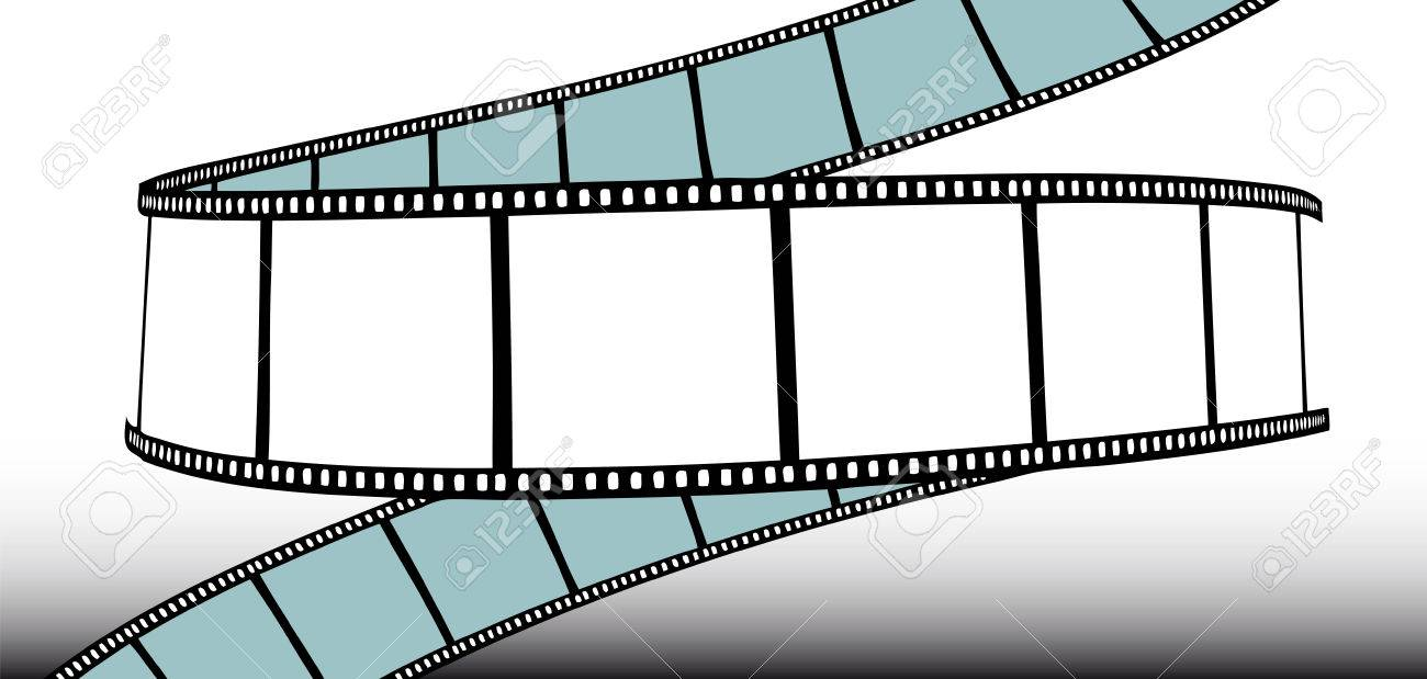 movie/photo film - illustration on gradient background Stock Vector - 5200855