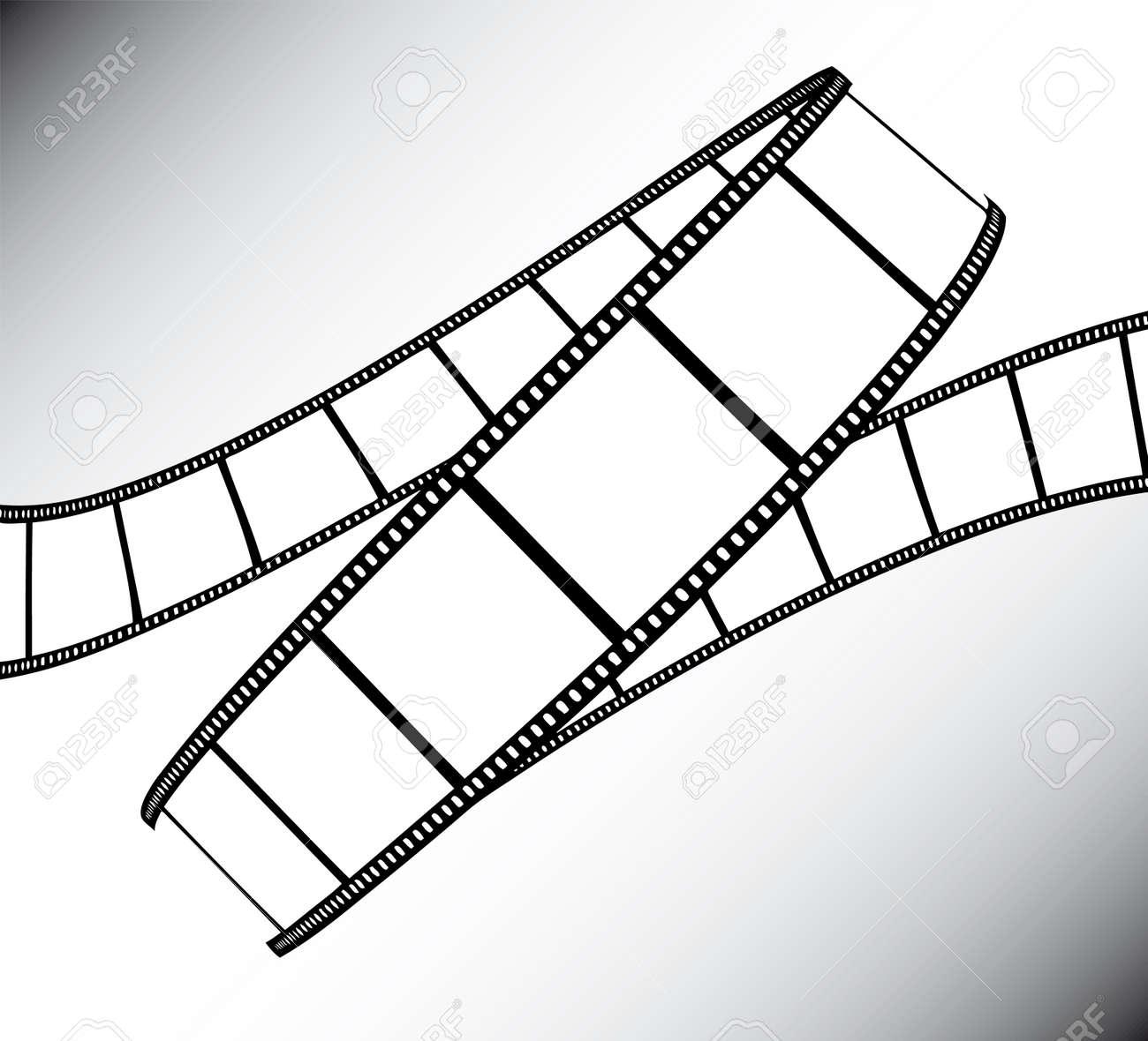 movie/photo film - illustration on gradient background Stock Vector - 5200856