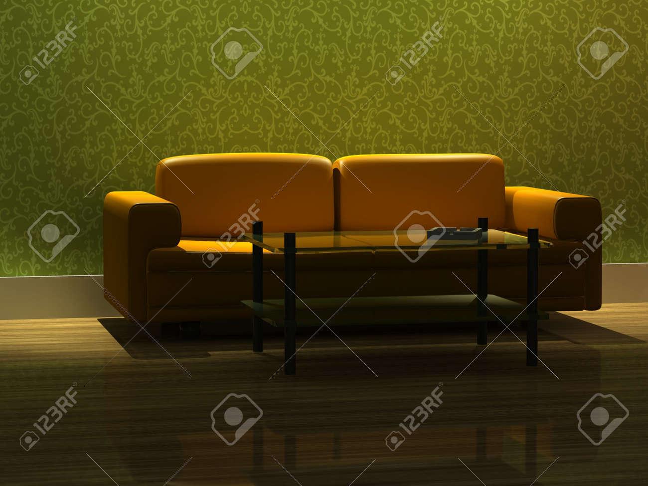 3d rendering modern sofa in living room Stock Photo - 5586568
