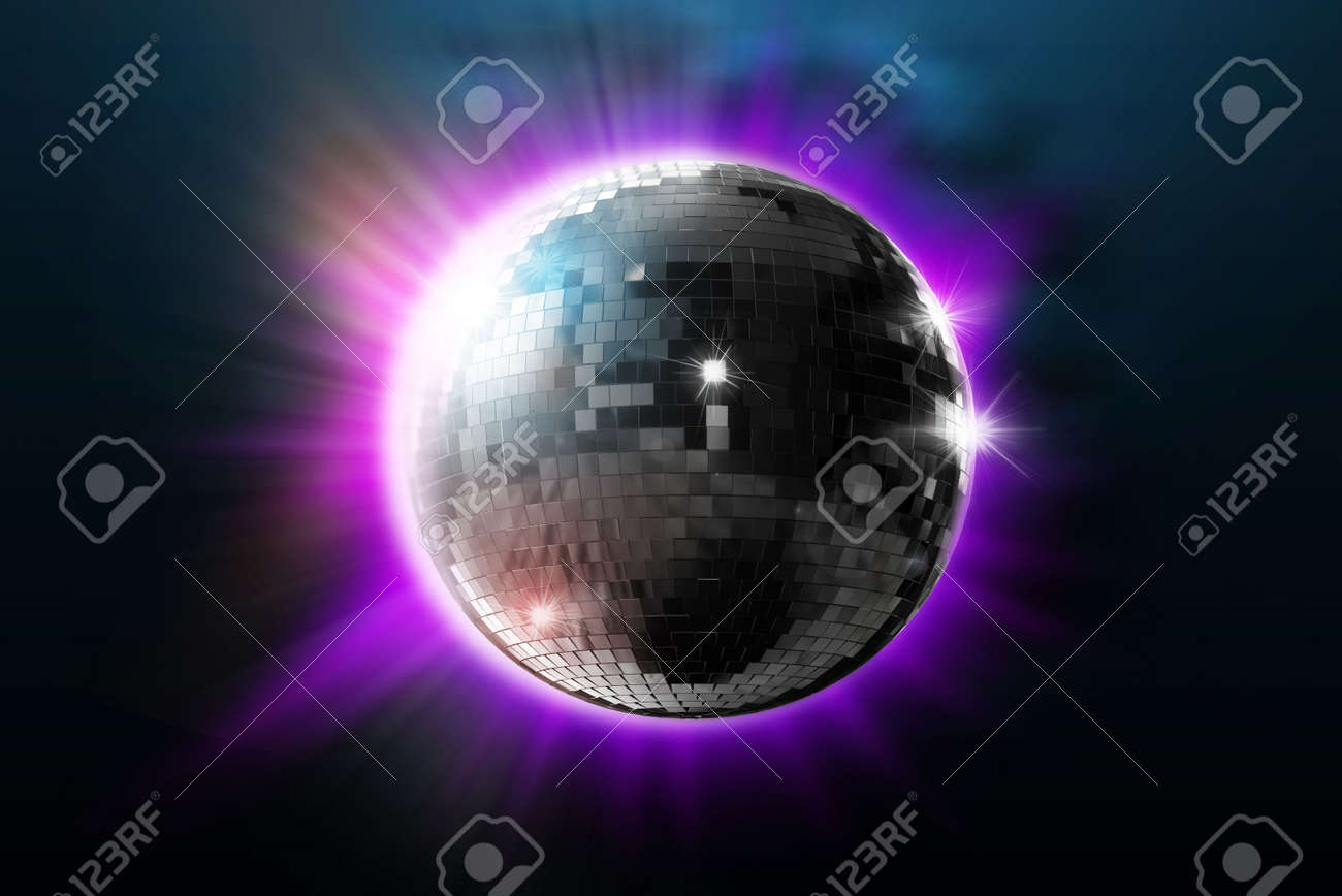 disco ball with lights - retro party background Stock Photo - 6017480