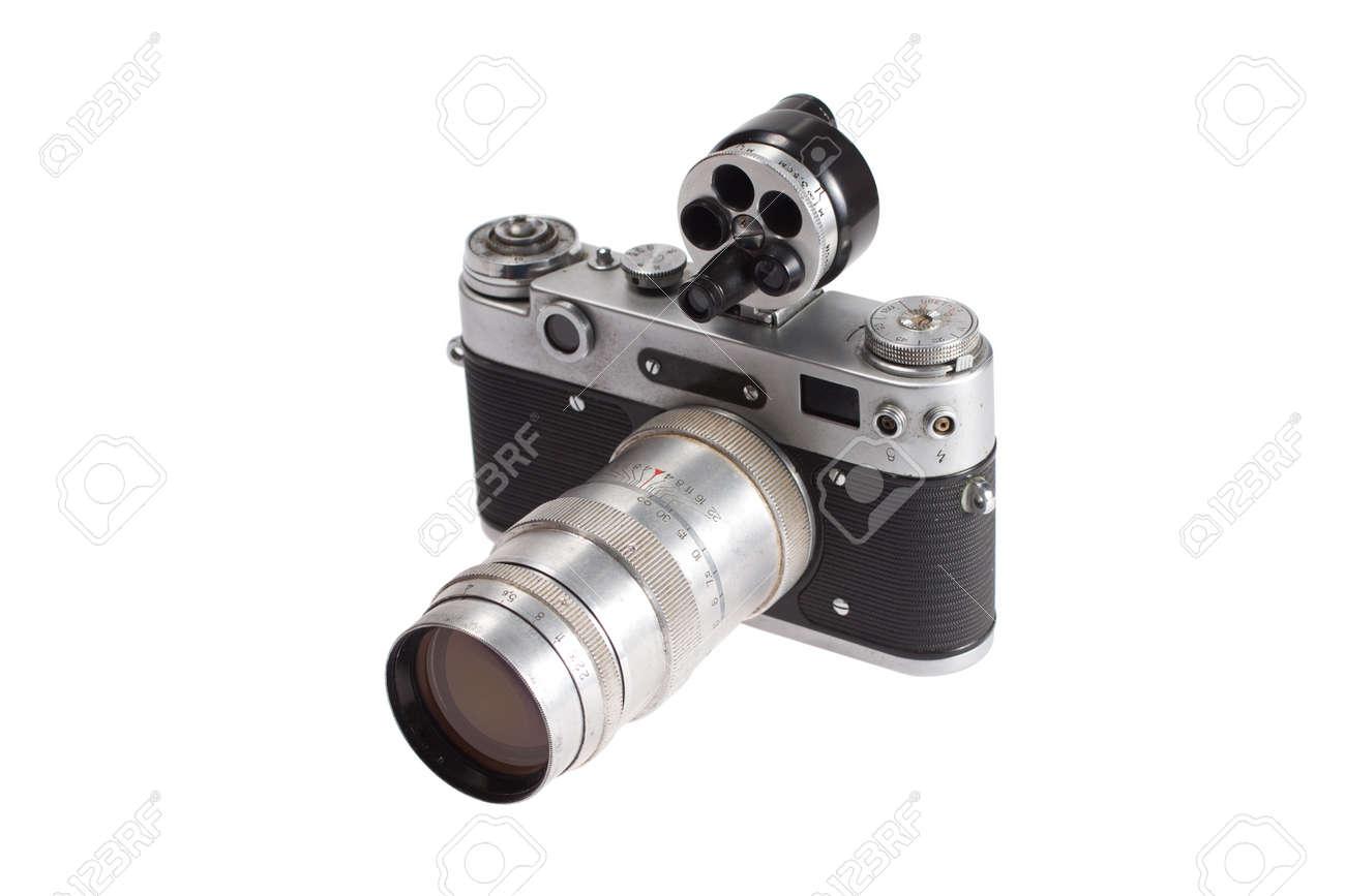 Entfernungsmesser Mit Sucher : Retro vintage entfernungsmesser kamera auf weißem hintergrund