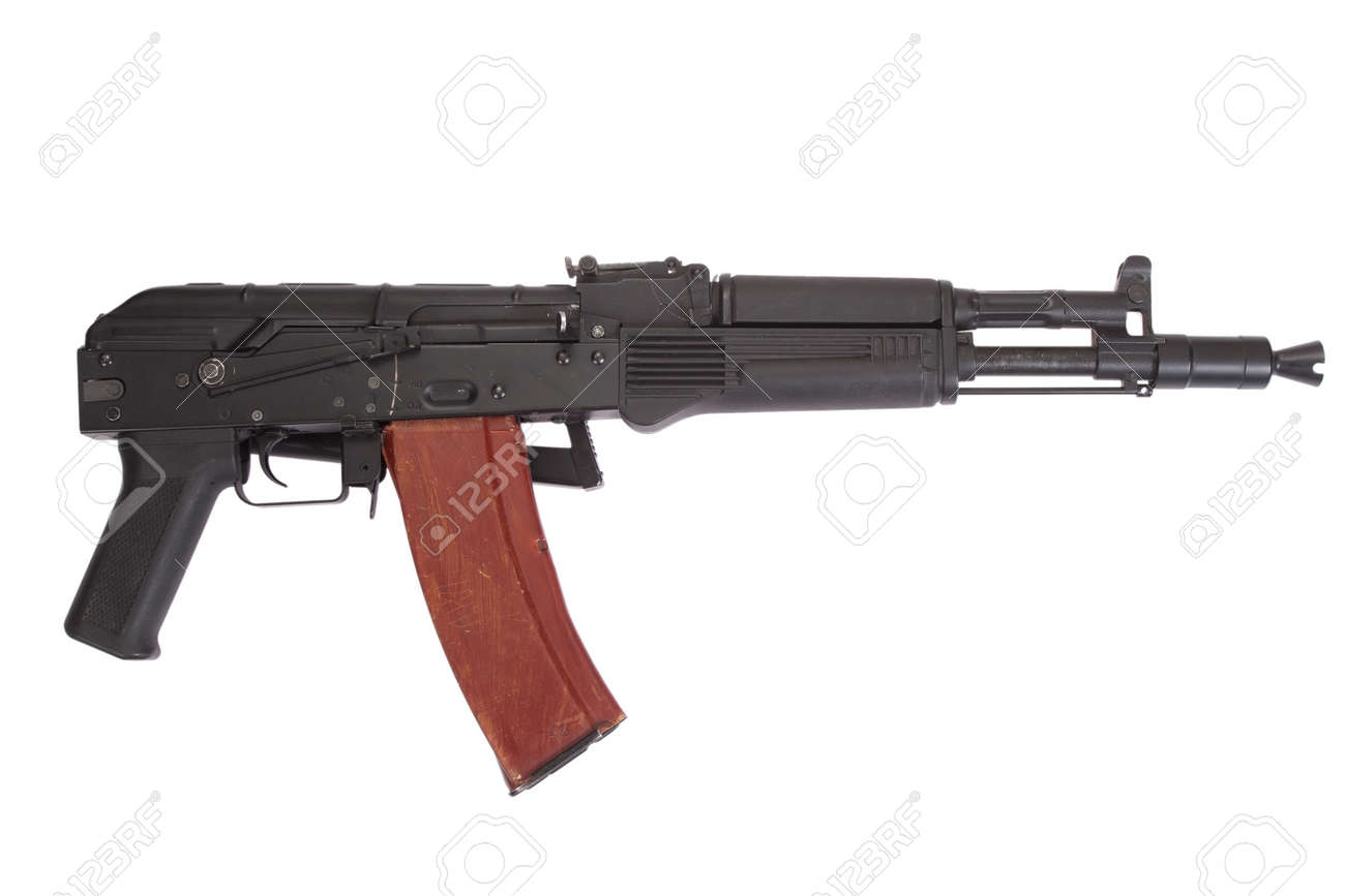 Ak 105 kalashnikov ak-105 modern assault rifle on white stock photo