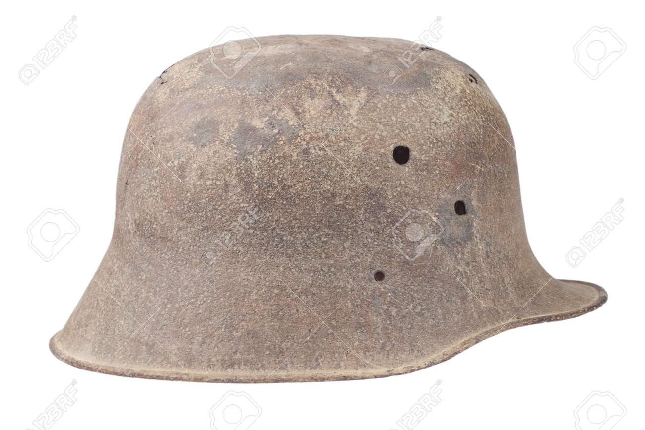 old rusty german helmet ww1 period