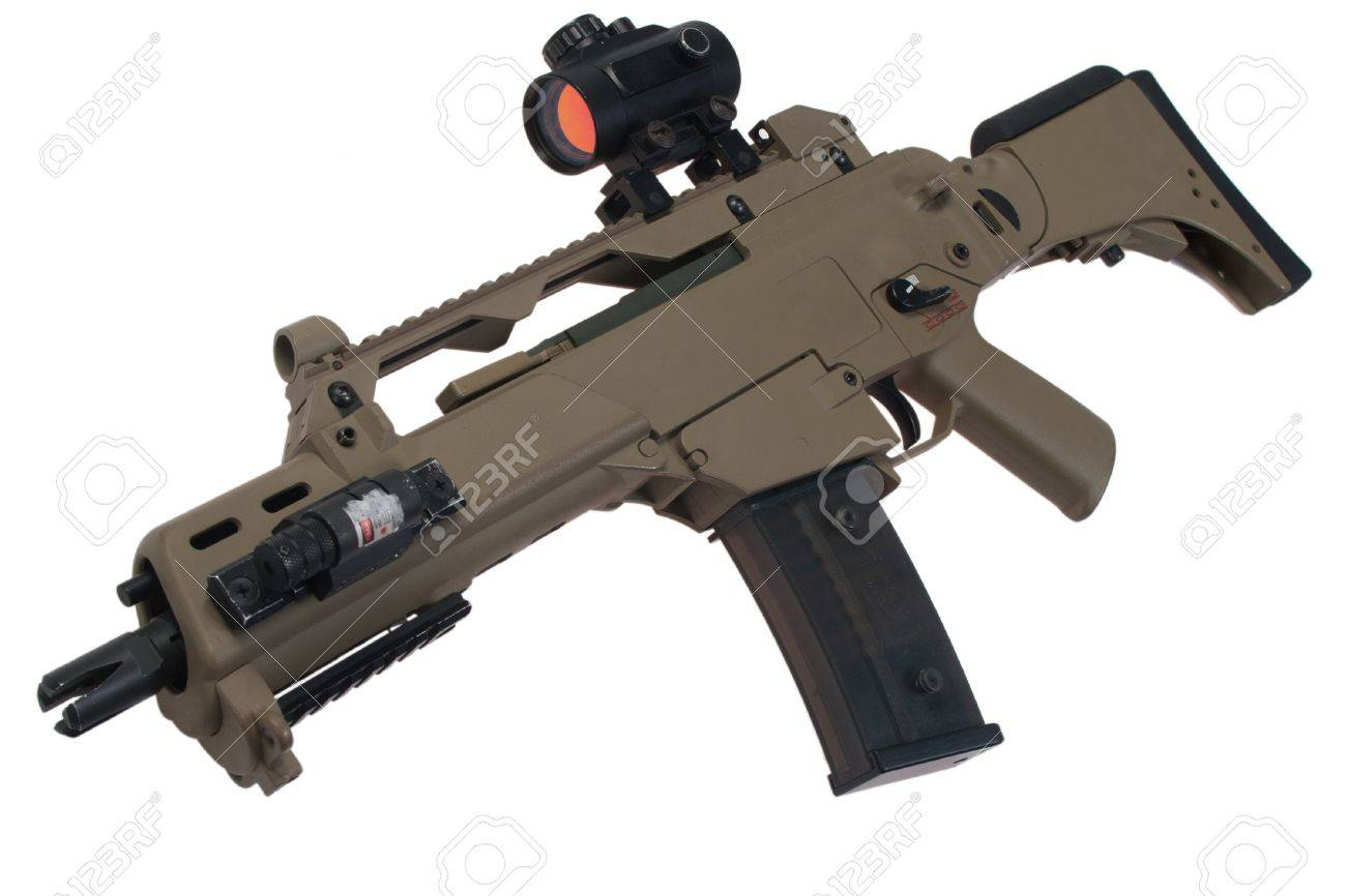 assault rifle G36 with scope