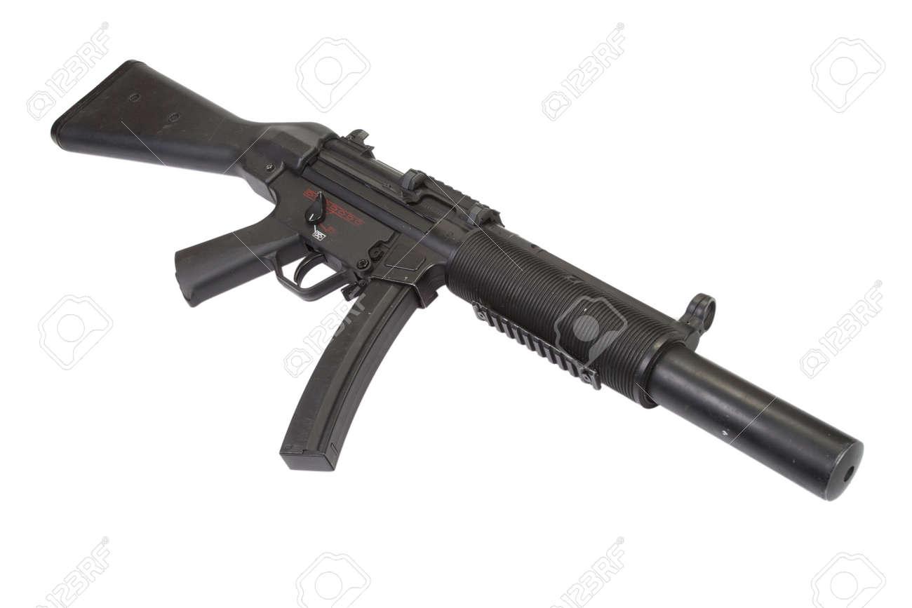 短機関銃 MP5 サイレンサーと分離 の写真素材・画像素材 Image 29718661.