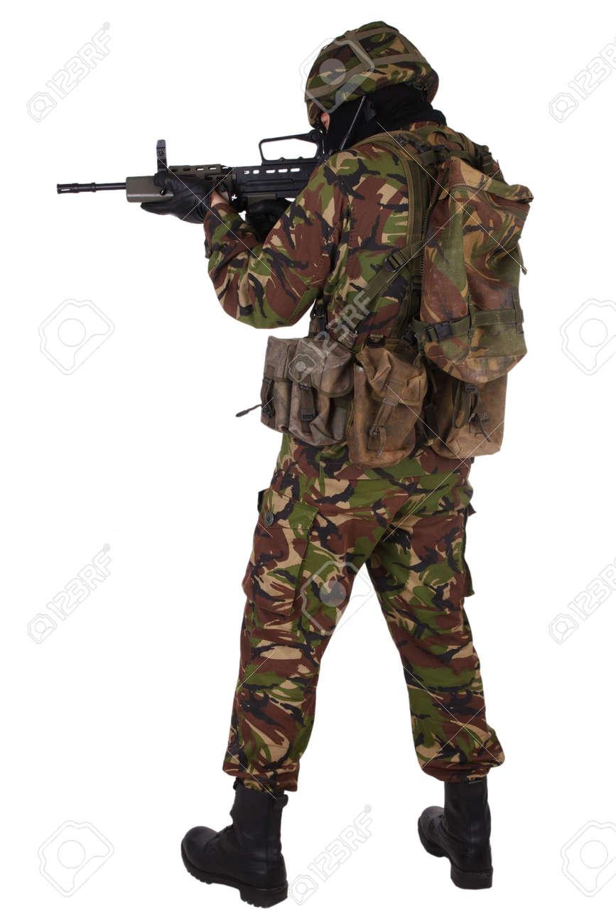 白で隔離イギリス軍兵士 の写真...