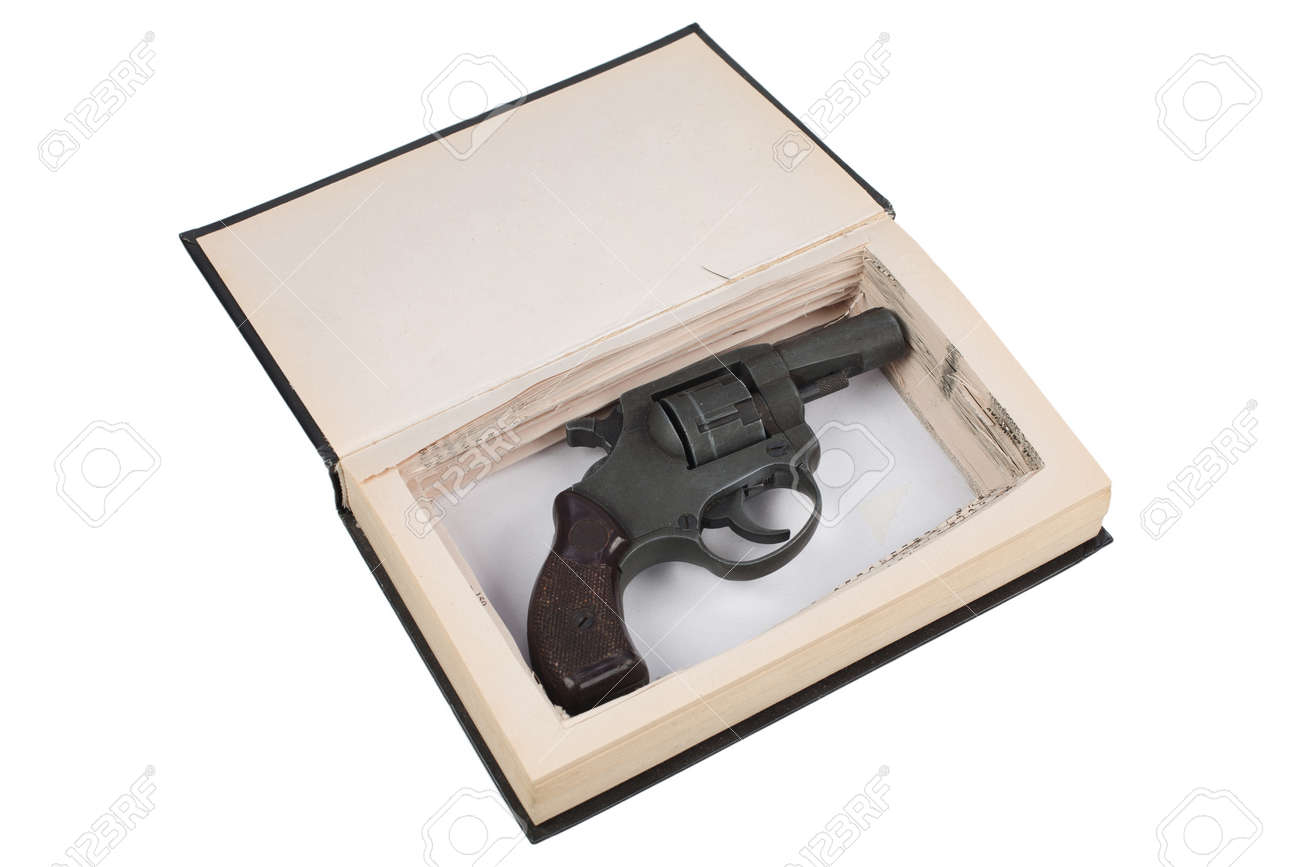 gun hidden in a book