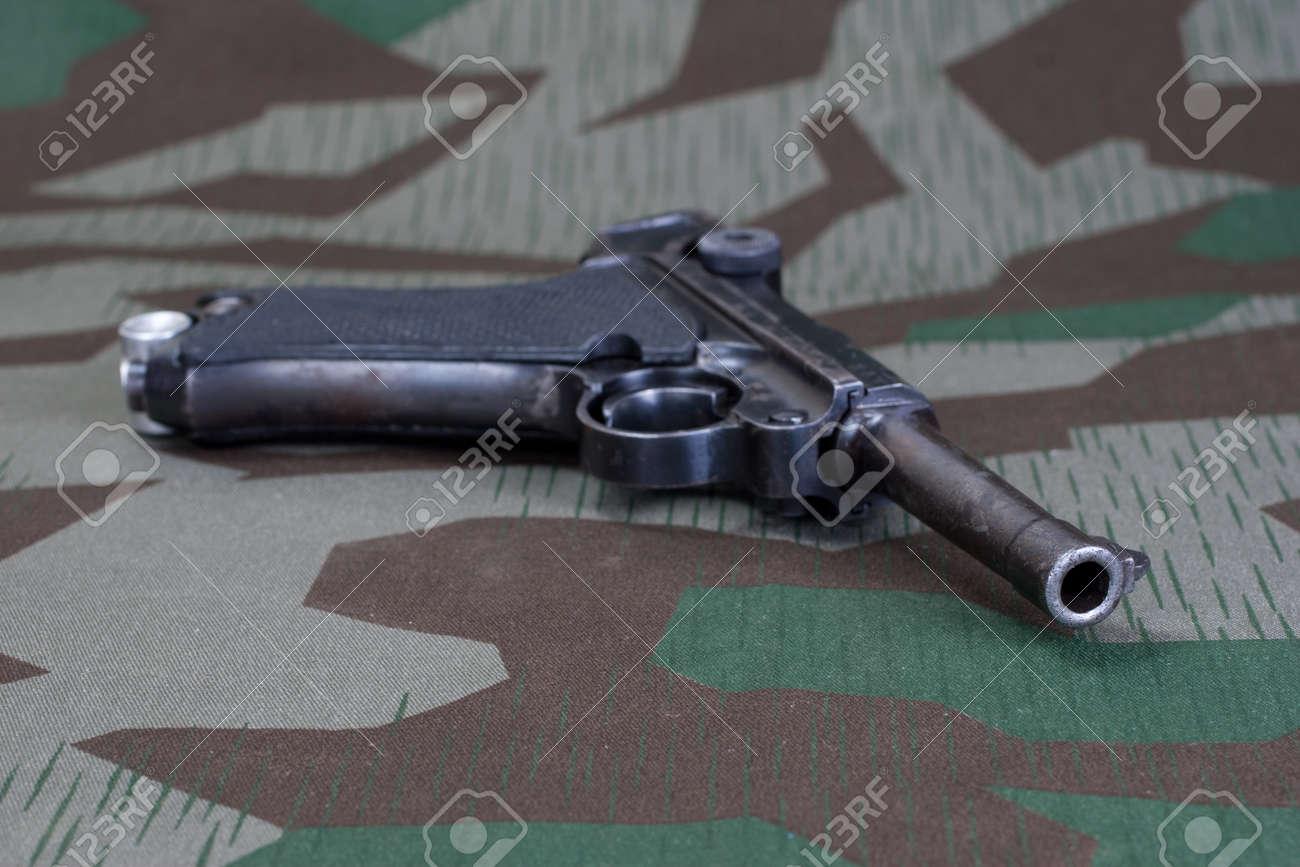 World War II period german army handgun with german award Iron