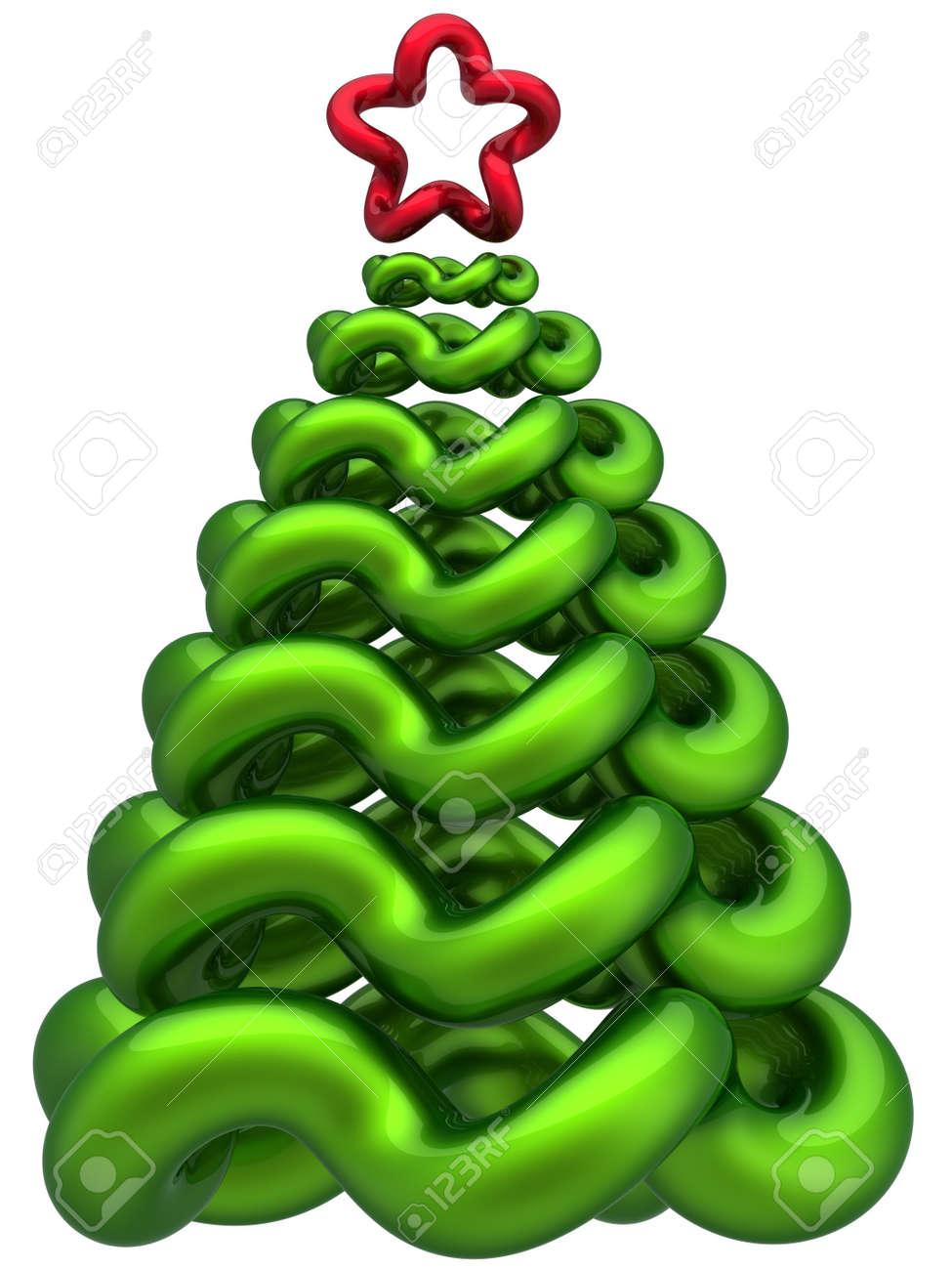 Abstract Christmas tree total Christmas Tree Shape With Star