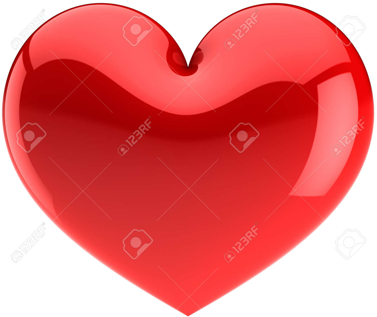 Red heart icon. I Love You symbol classic. Beautiful glossy Valentines Day design element. This is a detailed render 3d (Hi-res). Isolated on white background Stock Photo - 8785746