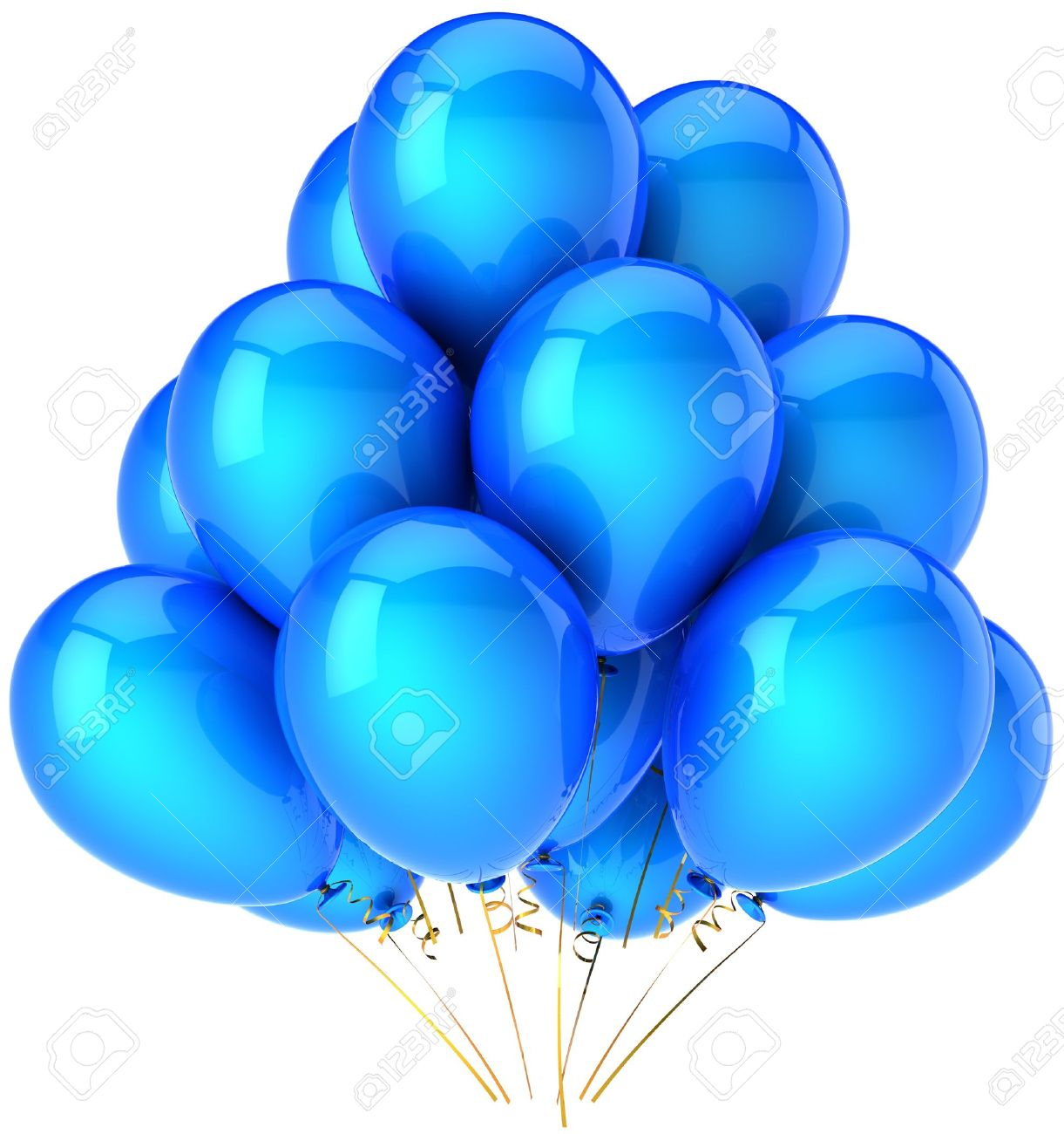 Shiny Balloons Party Balloons Total Blue Cyancolorful Shiny Birthday  Festival