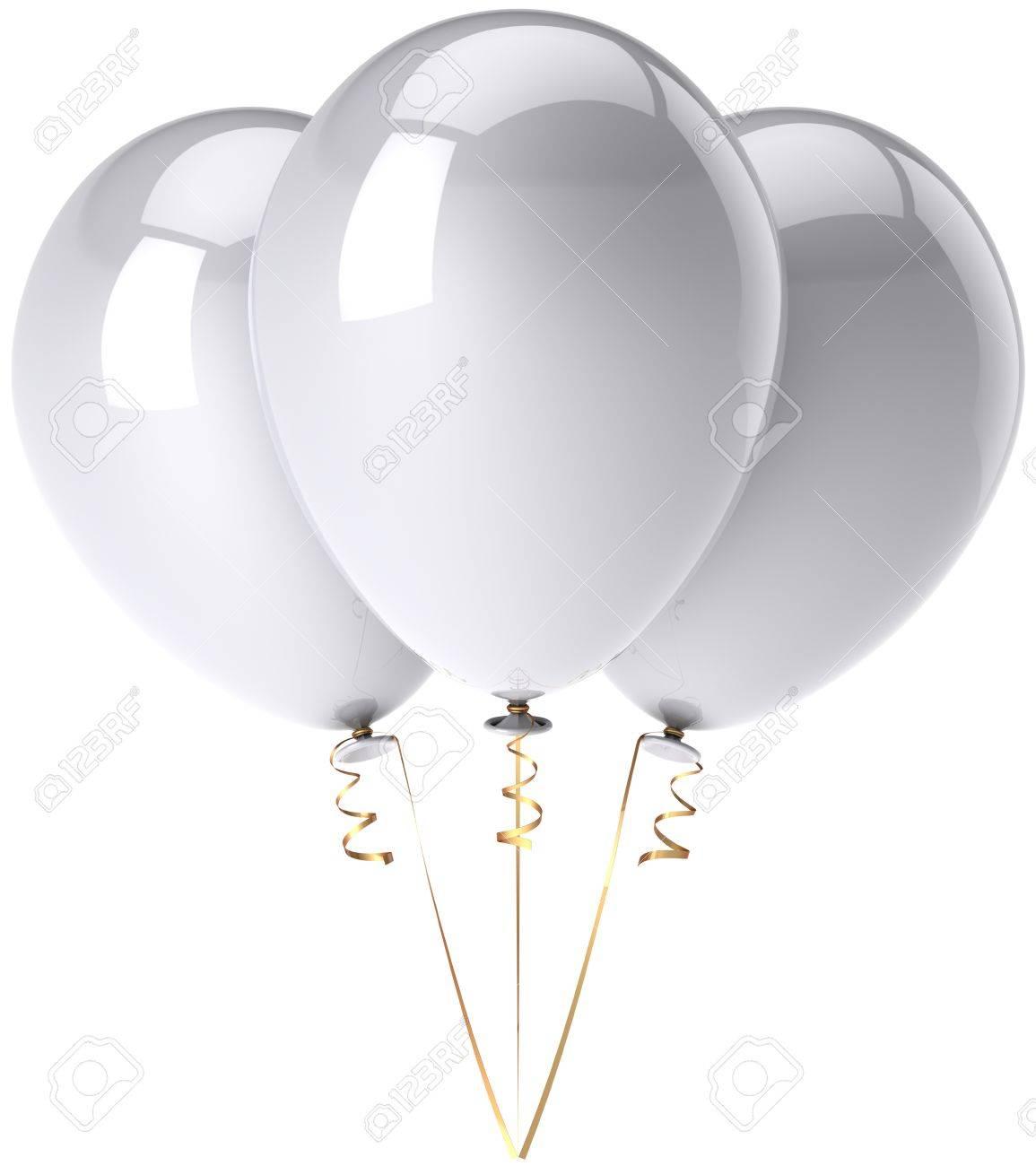 Shiny Balloons Party Balloons Total White Shiny And Beautifulbirthday Celebrate