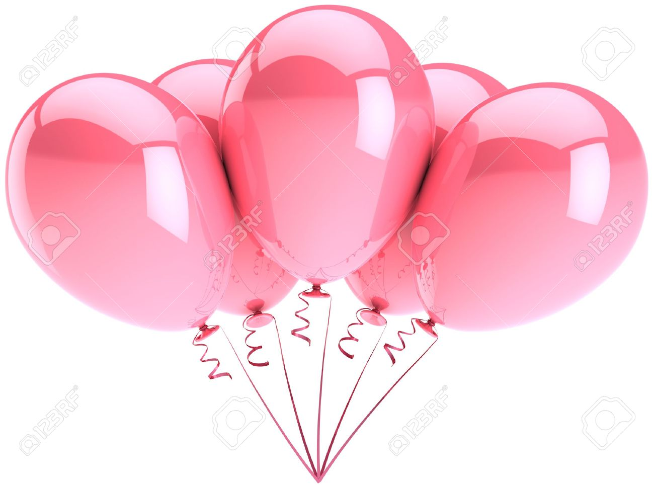 Party Balloons Five Colored Pink Romantic Wedding Birthday Decoration Tender Girlfriend Love Emotion Concept