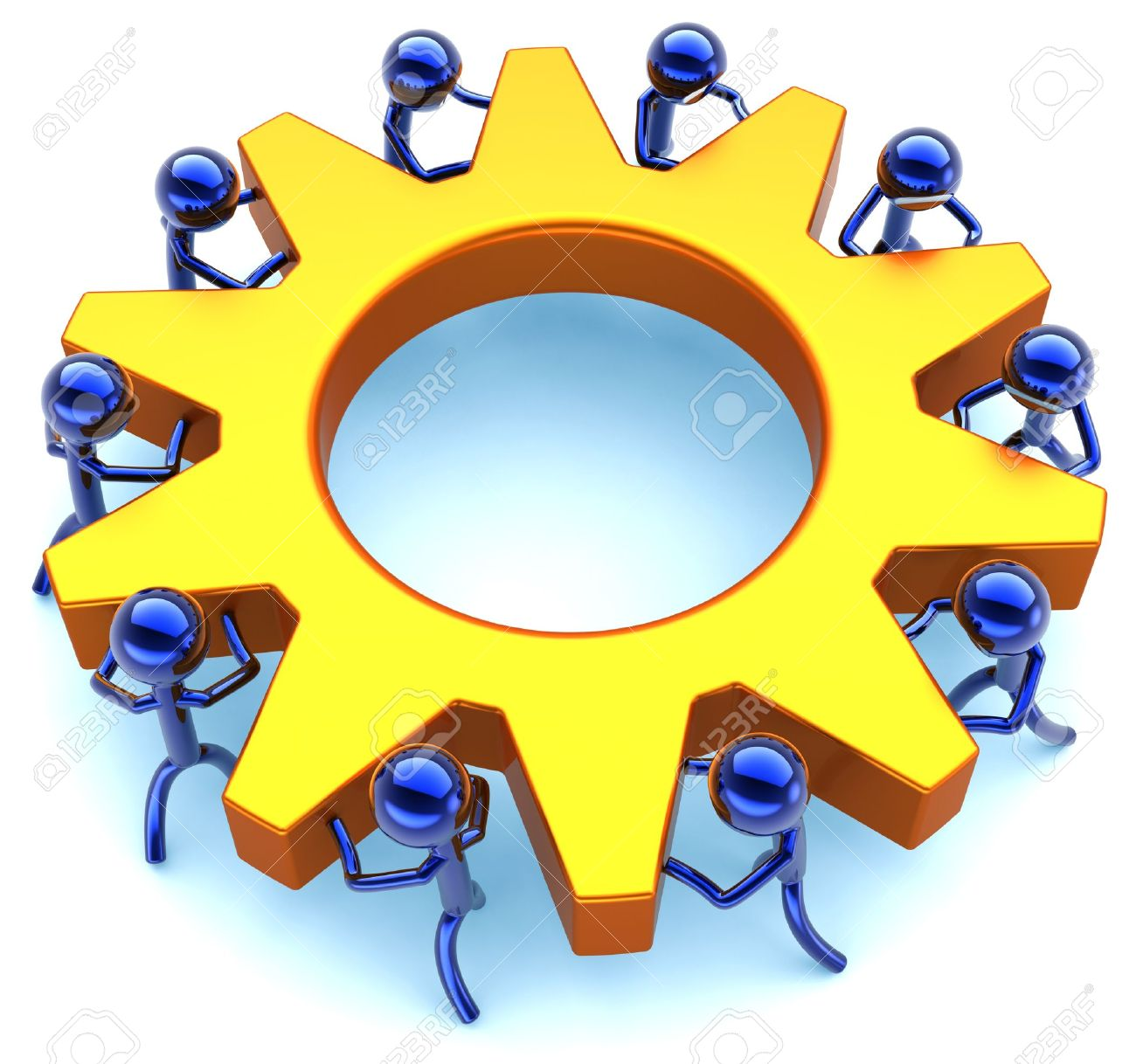 Business teamwork process community efficiency cooperation community efficiency cooperation abstract success of team concept stylized workers sciox Images
