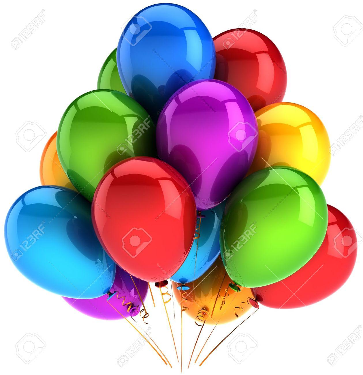 Shiny Balloons Party Balloons Multicolorshiny Colorful Decorationholiday