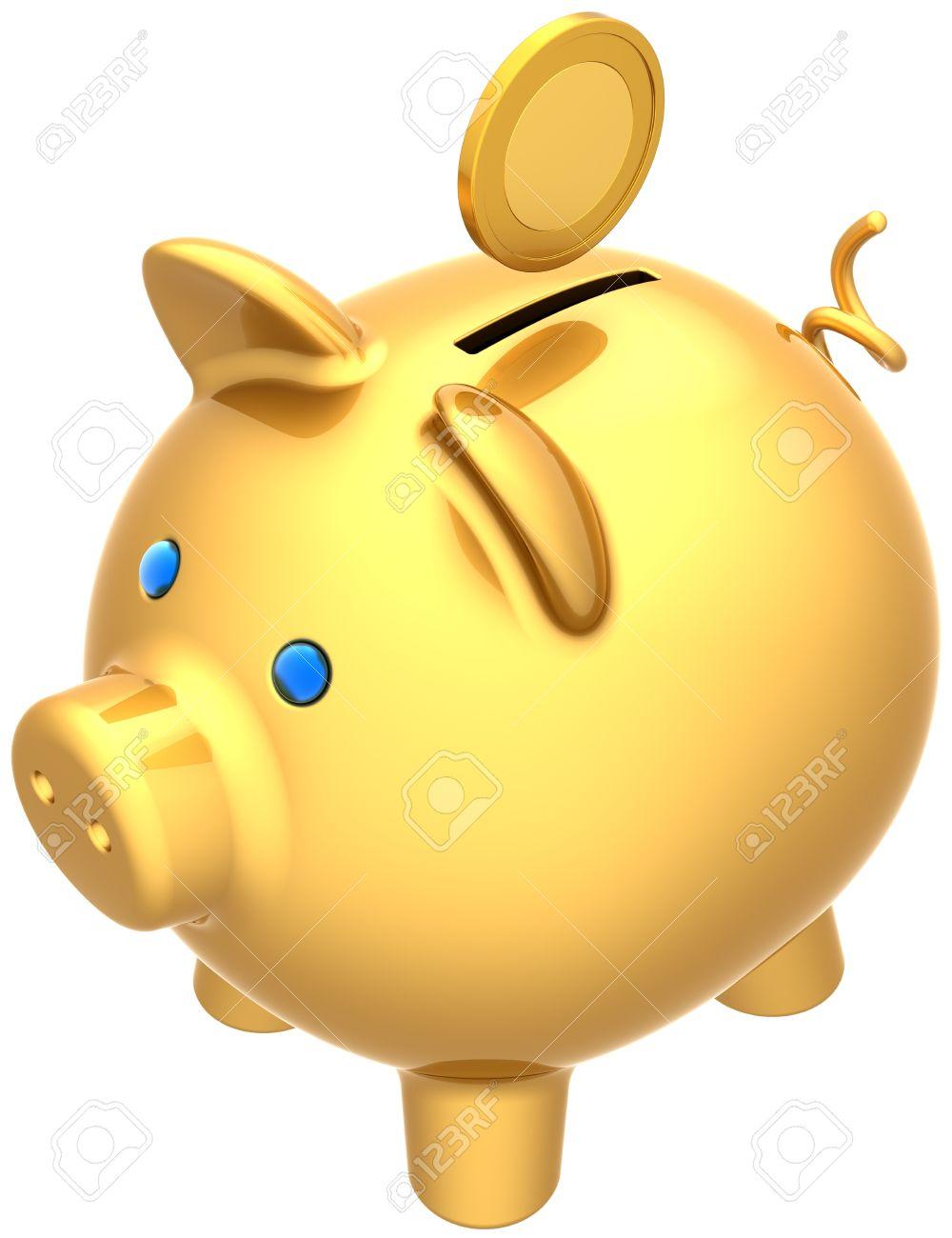 piggy bank - gold piggy bank