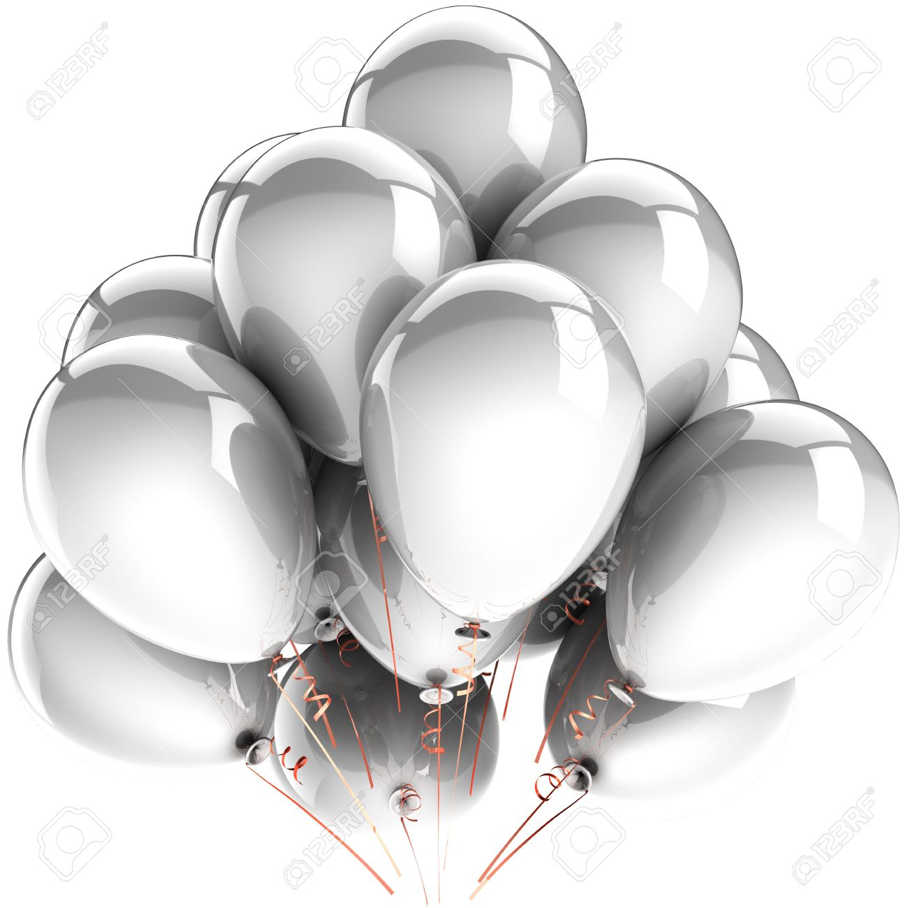 white balloons modern birthday celebrate party decoration