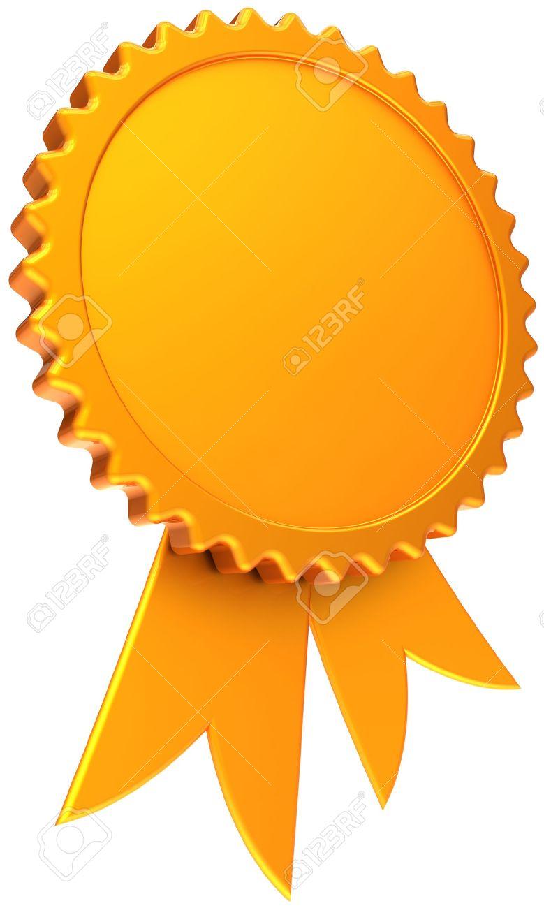 Award Ribbon Blank Total Golden Shiny Winner Medal Icon With – Winner Certificate Template