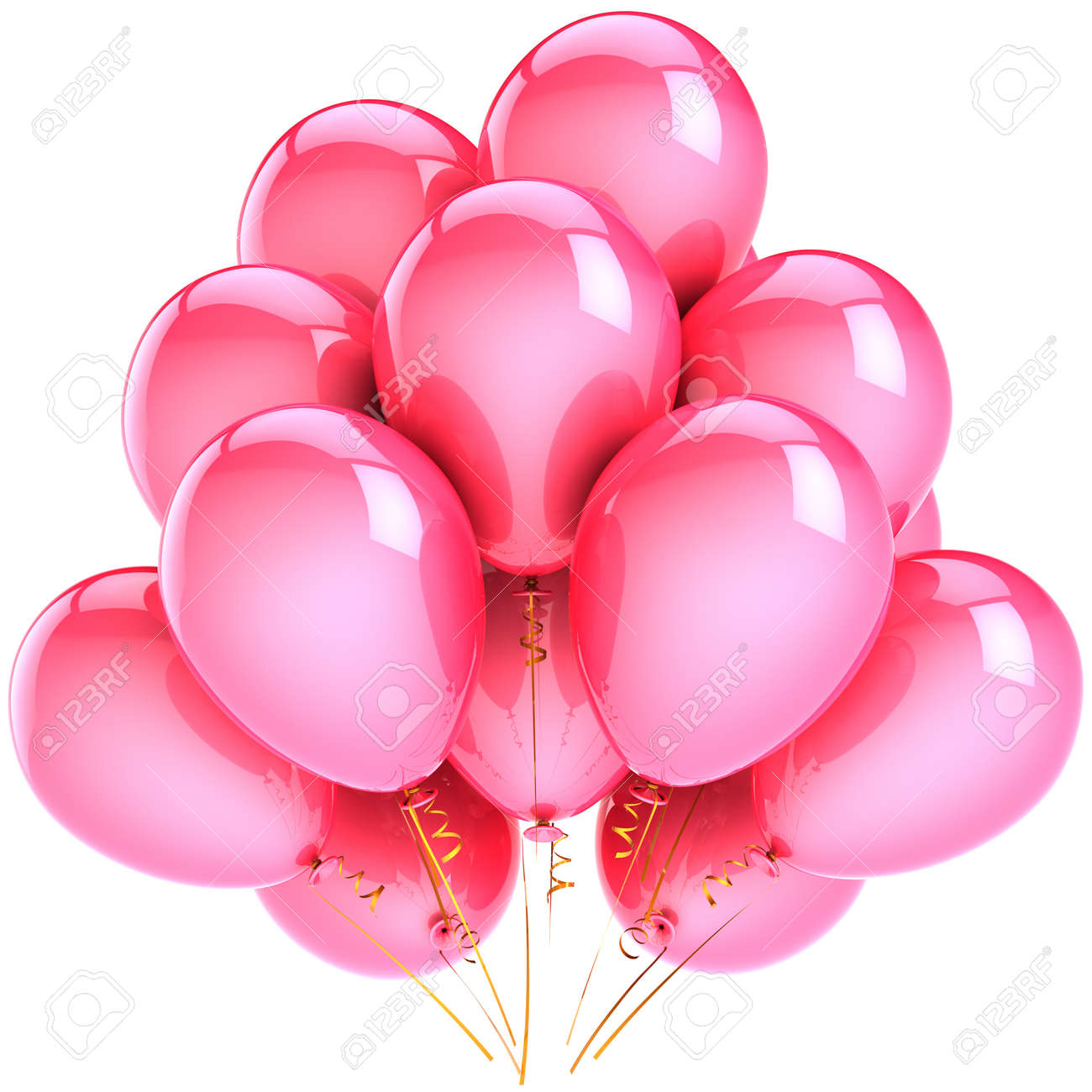 Balloons Party Decoration Colorful Pink Romantic Happiness Holiday Abstract Birthday Anniversary Celebration Concept
