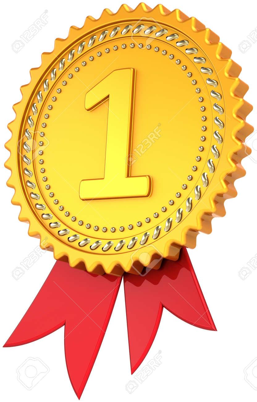 Award Multifunktionsleiste Erster Platz Golden Mit Rot. Führung ...