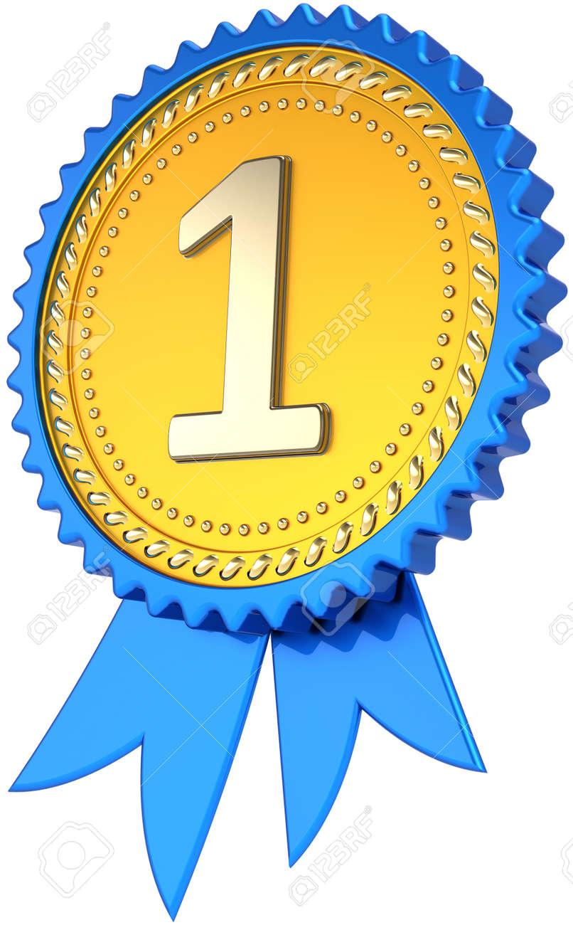 Premio Cinta Insignia Oro Primer Lugar Ganador éxito. Etiqueta De ...