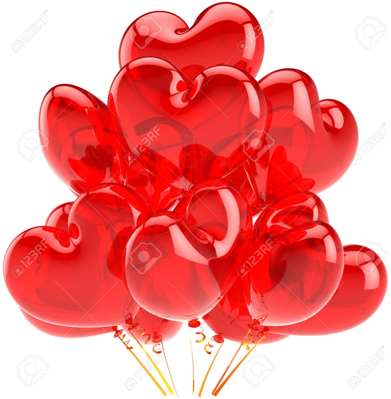 Red Party Ballons Transluzente Herzformiges Celebration Dekoration