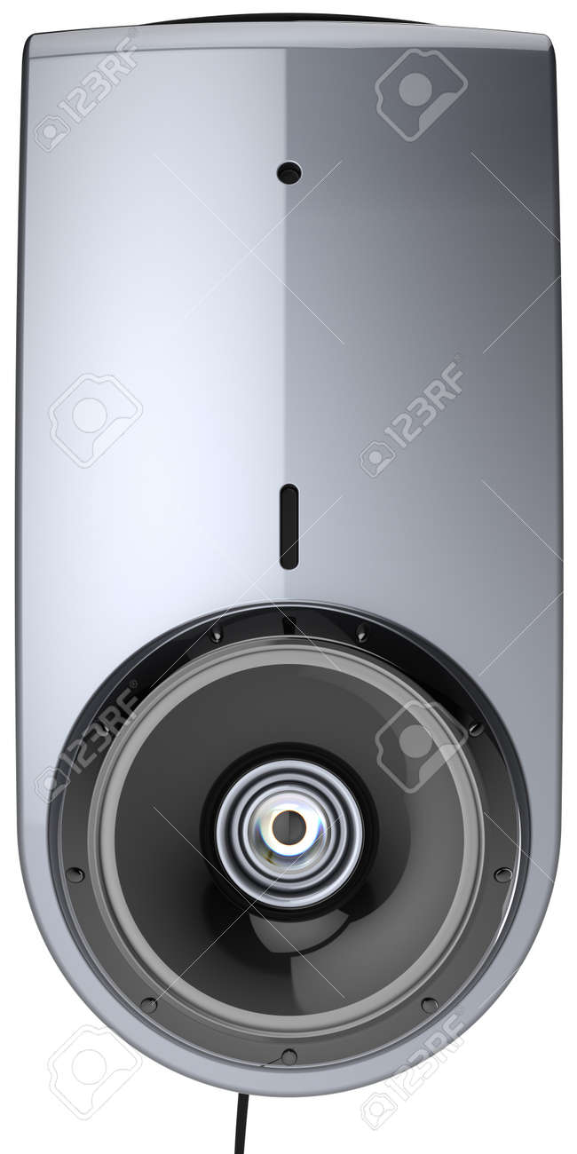 Web camera video call communication contemporary computer multimedia equipment front view close-up. detailed render 3d image. Isolated on white background Stock Photo - 9869787