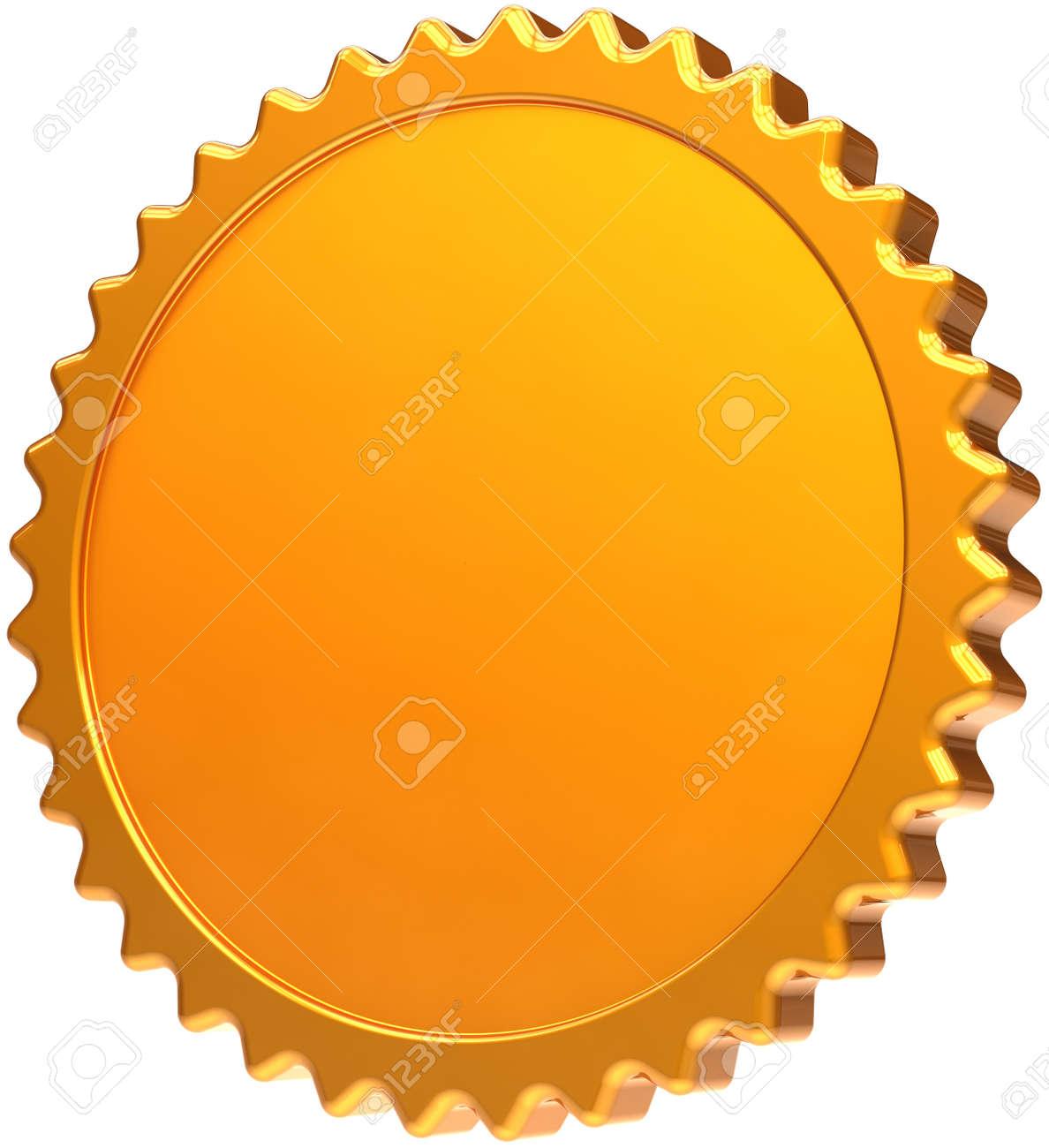 blank golden medal award design element luxury champion badge