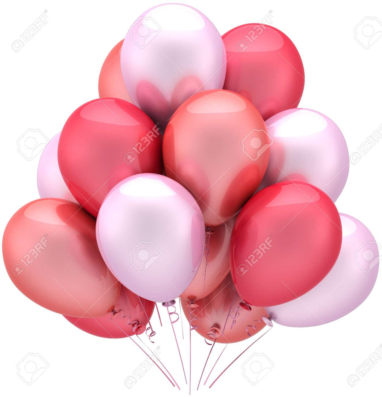 Ballons Feiern Geburtstag Romantische Dekoration Liebe Rosa Farben