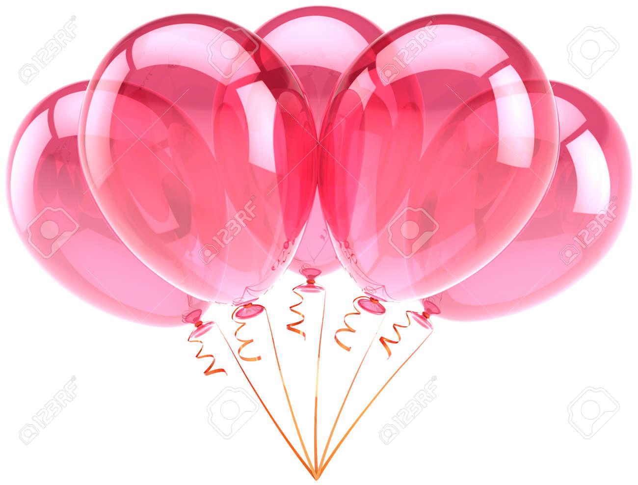 Ballons Rosa Geburtstag Party Celebration Geburtstag Dekoration