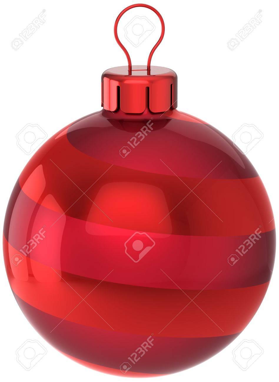 9ce0e70ac87 Bola De Navidad La Decoración De Color Rojo Feliz Año Nuevo Clásico  Juguete. Feliz Navidad Tarjeta De Felicitación Elemento De Diseño.