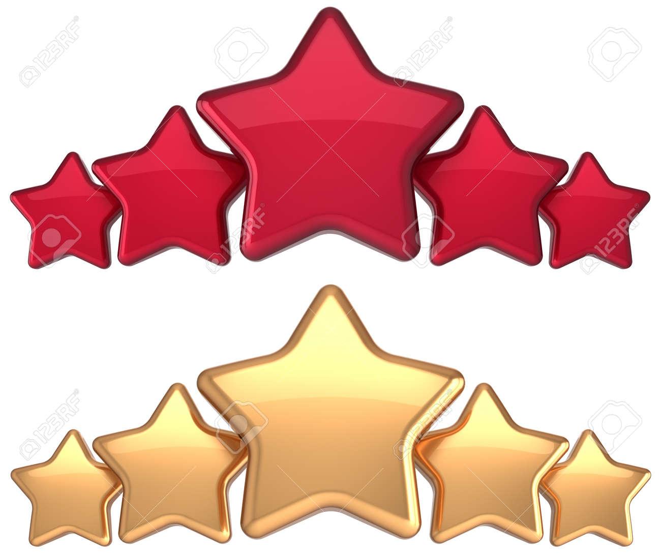 five star service gold red golden award success decoration abstract rh 123rf com gold star clip art download Gold Star Border Clip Art
