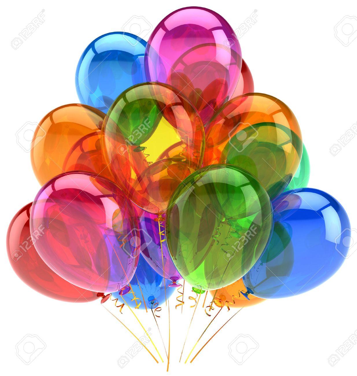 Ballons Feiern Geburtstag Ballon Dekoration Bunt Schein Freudig