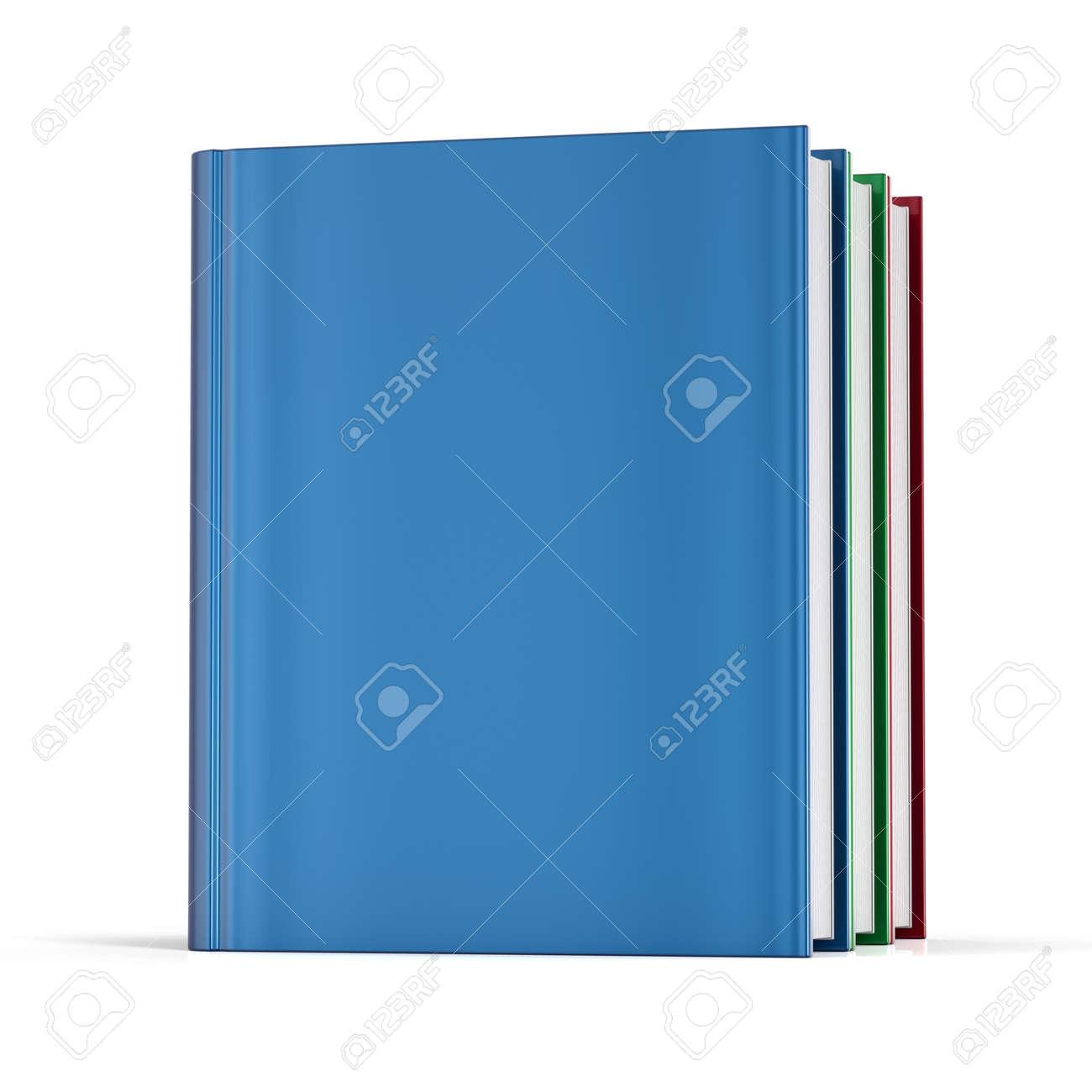 Livres Couverture Vierge Sans Etiquettes Modele Manuel Colore College Apprentissage Ecole Icone D Information Contenu Concept 3d Render Isole Sur