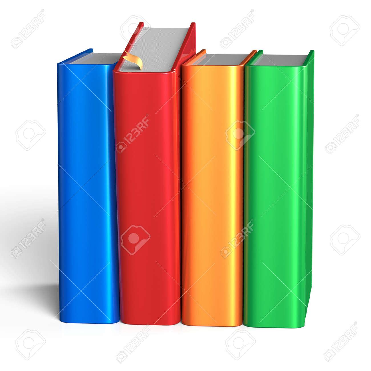 Boekenplank Met Boeken.Het Selecteren Van Rode Boek Van Boekenplank Vier Boeken Rij 4 Grab