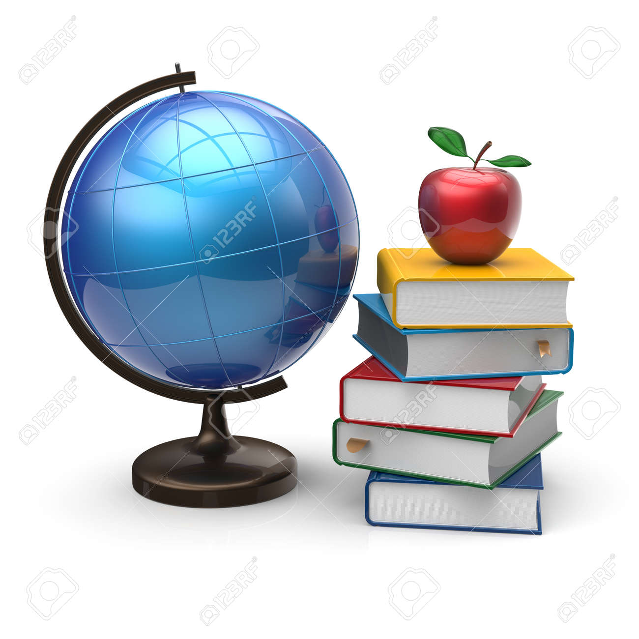 books globe and apple blank international global geography wisdom books globe and apple blank international global geography wisdom literature icon study knowledge symbol concept
