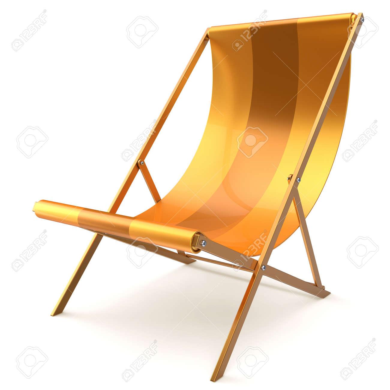 Beach Chair Yellow Chaise Longue Nobody Relaxation Holidays Spa Resort Summer Sun Tropical Sunbathing Travel Leisure