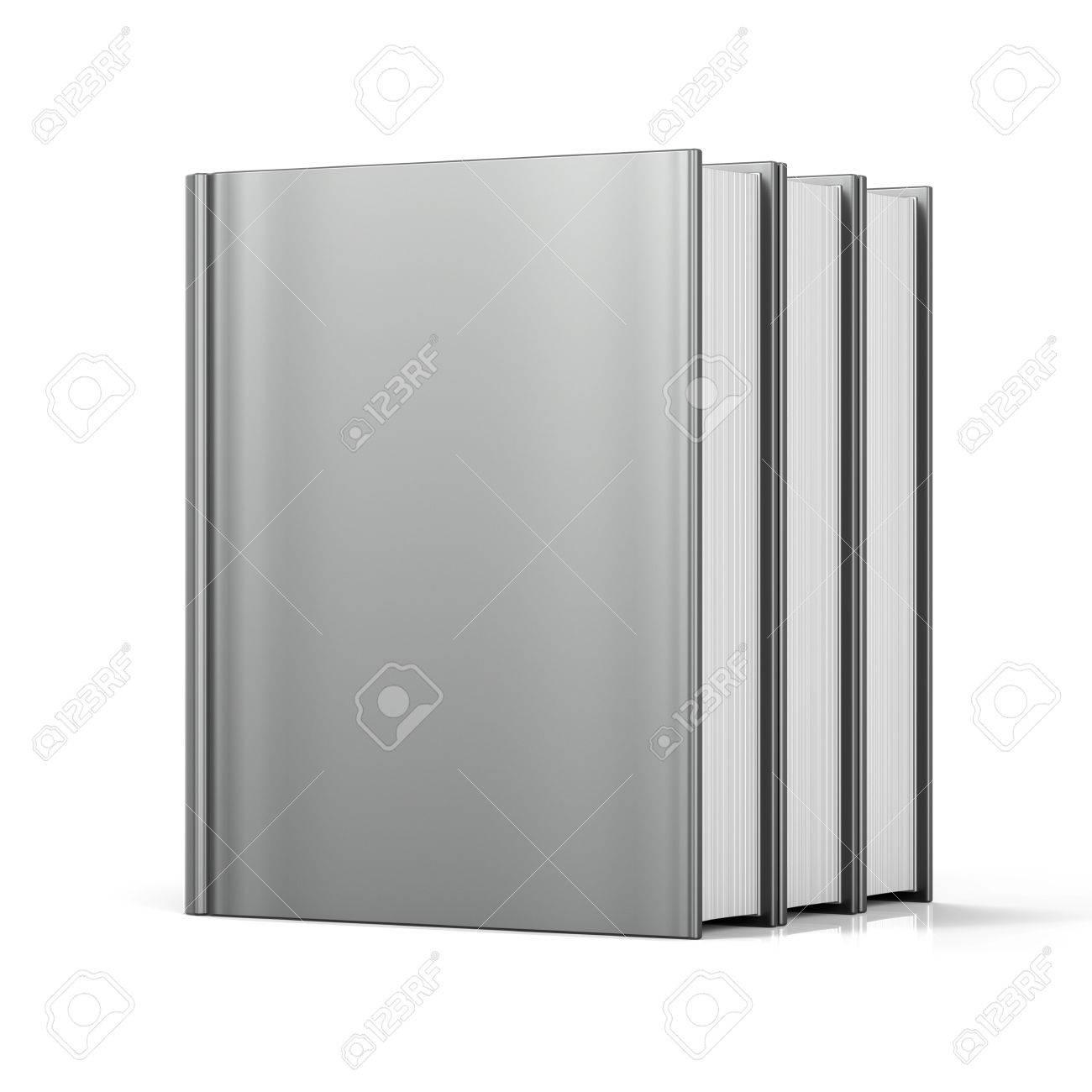 Blank Bücher Cover Stehen 3 Drei Weißen Lehrbuch Arbeitsbuch ...