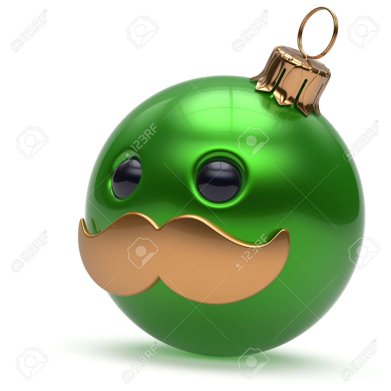 Lustige Weihnachtskugeln.Stock Photo
