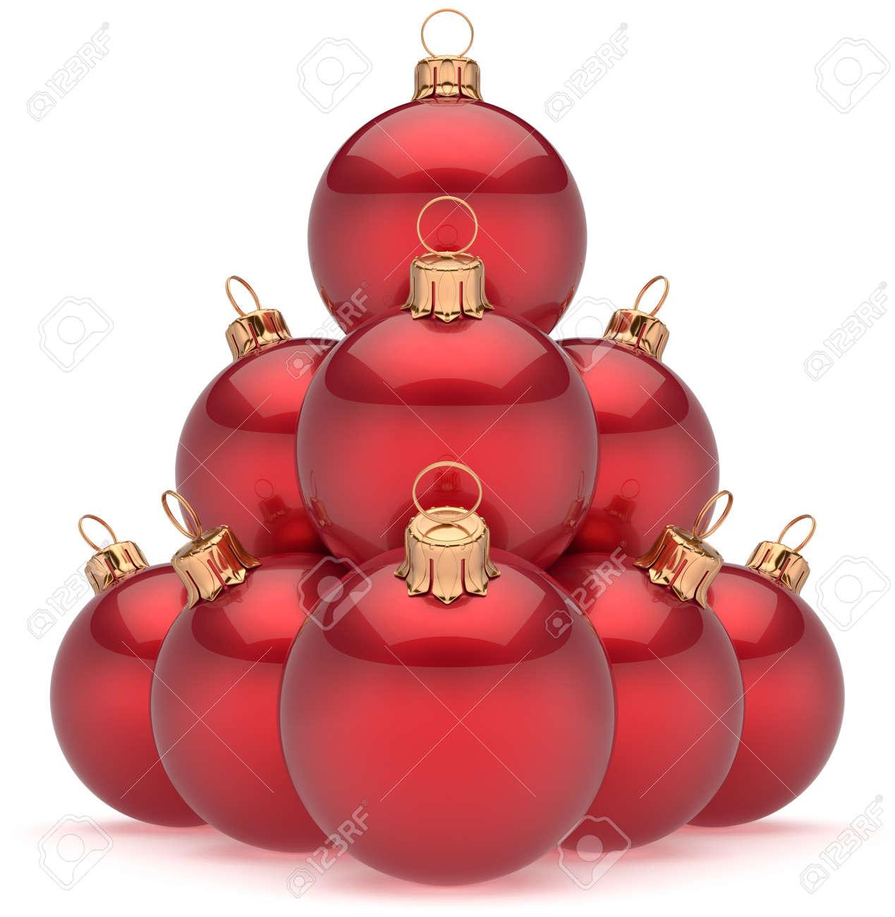 6096527cc50 Esferas Brillantes Eva Grupo De Objetos De Decoración De Adorno Bolas De  Navidad Pirámide Roja De Año Nuevo Ornamento. Feliz Navidad Vacaciones De  Invierno ...