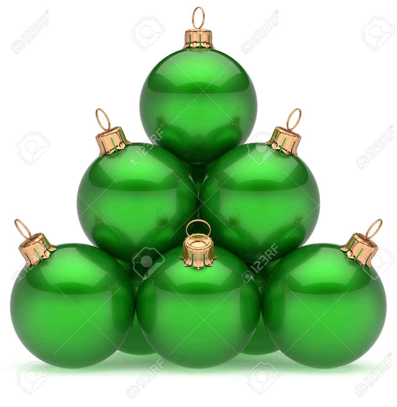 7e125932414 Bola de navidad pirámide de esferas brillantes eva chuchería grupo jpg  1269x1300 Bola de navidad verde