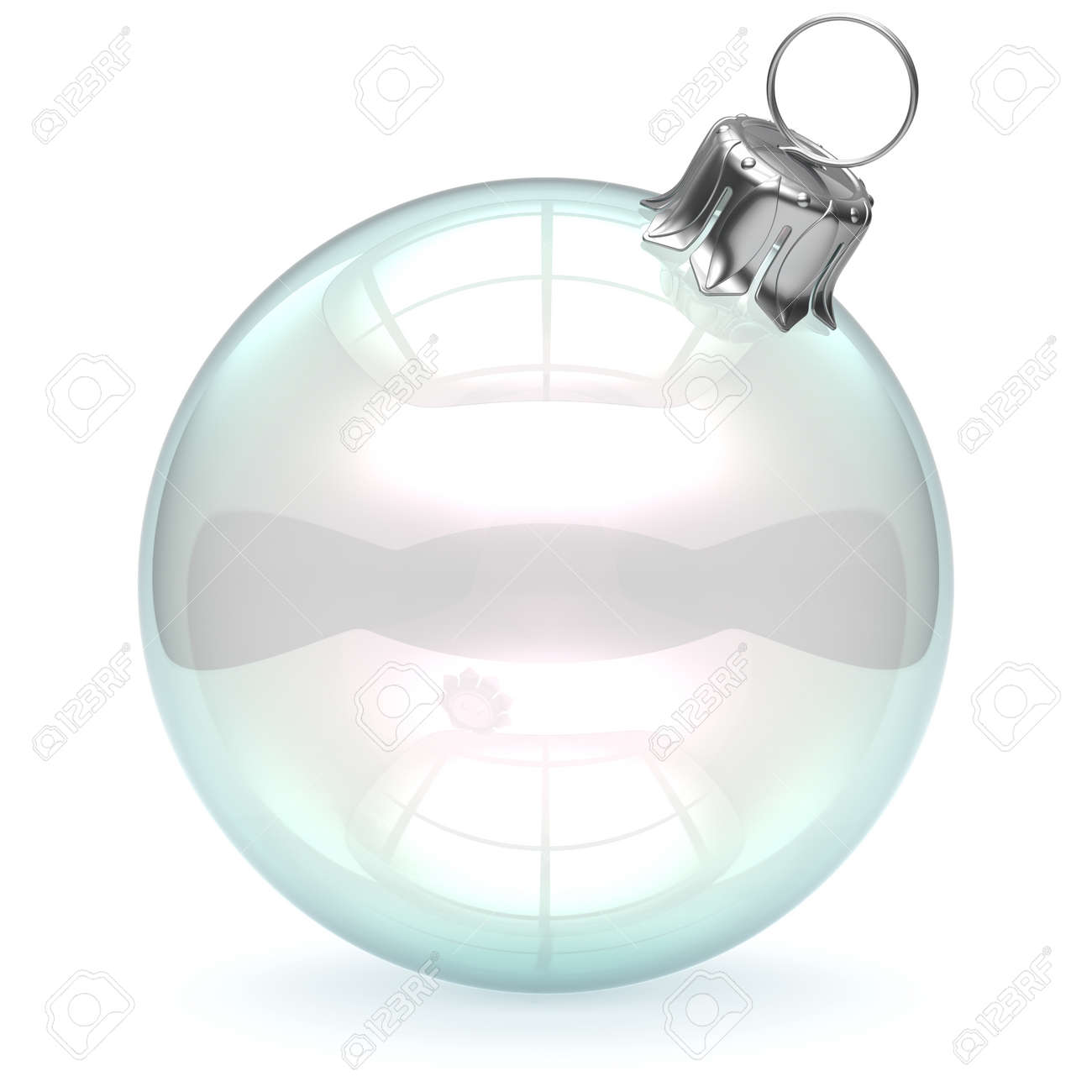 Clear glass ball ornaments - Glass Christmas Ball Empty Adornment Bauble Clear Blank New Year S Eve Ornament Translucent Decoration Shiny Polished