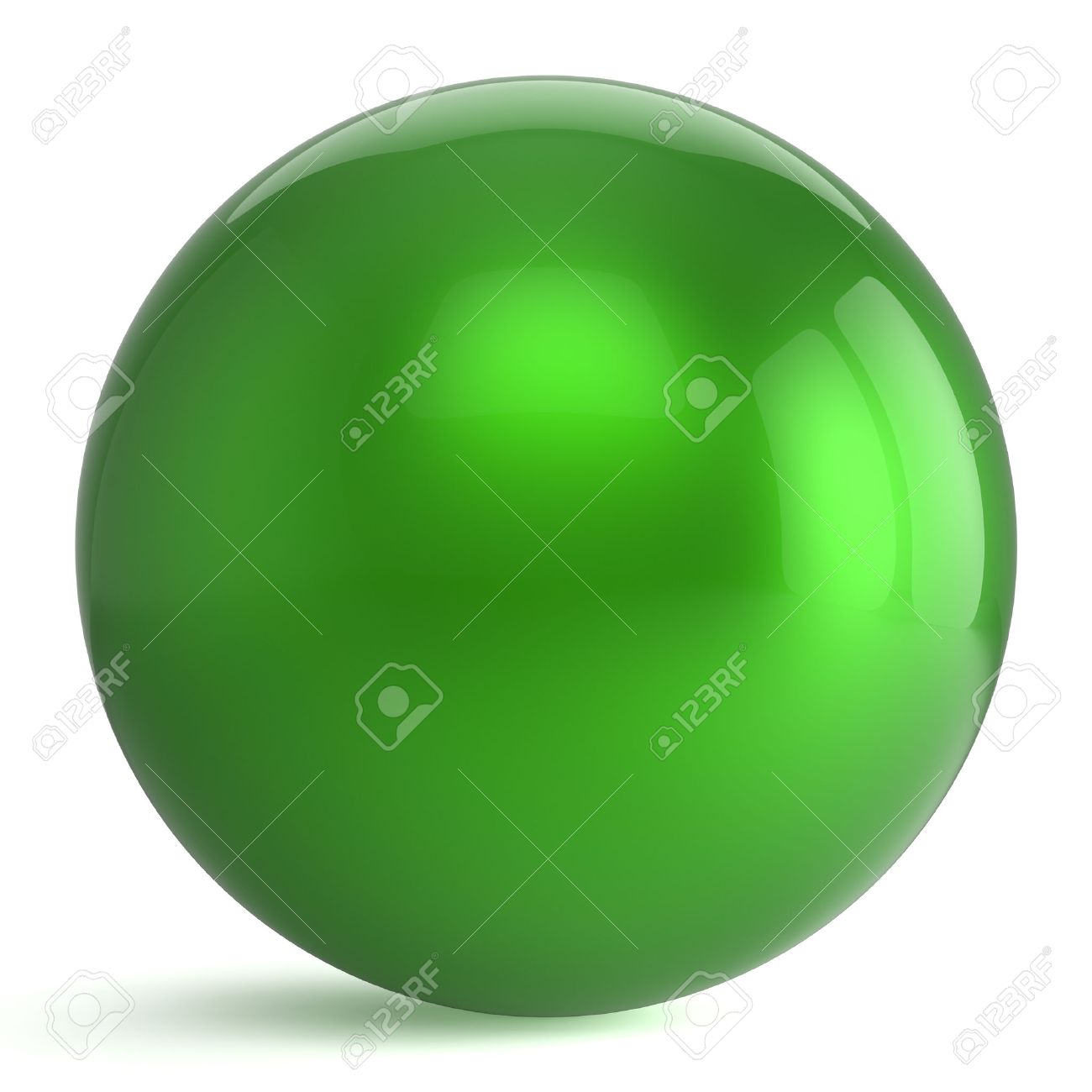 Sphere button round green ball geometric shape basic circle solid figure simple minimalistic atom element single drop shiny glossy sparkling object blank balloon icon. 3d render isolated - 53550254